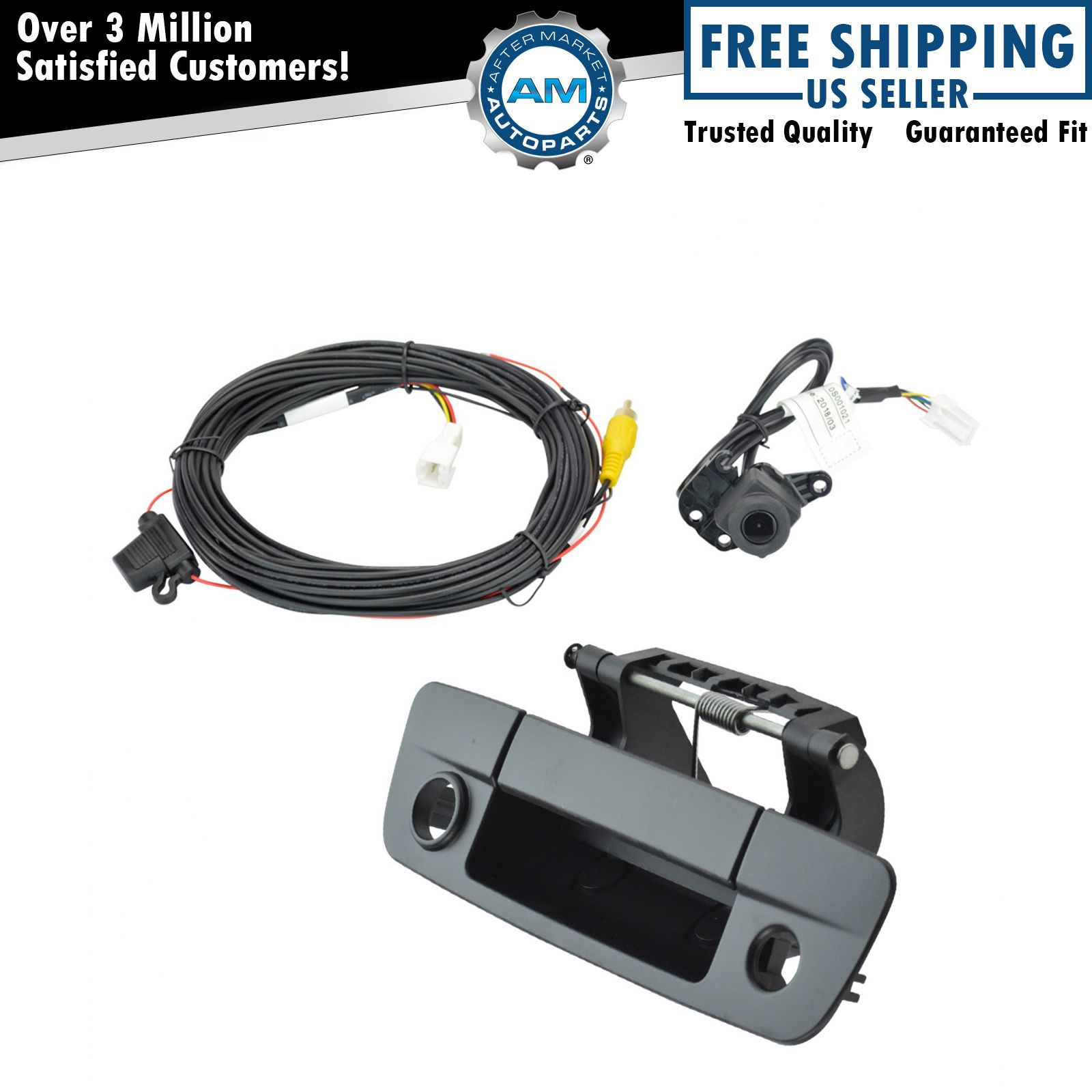 Rear View Camera Add On Kit w/ Wiring Harness & Tailgate Handle for Dodge  Pickup
