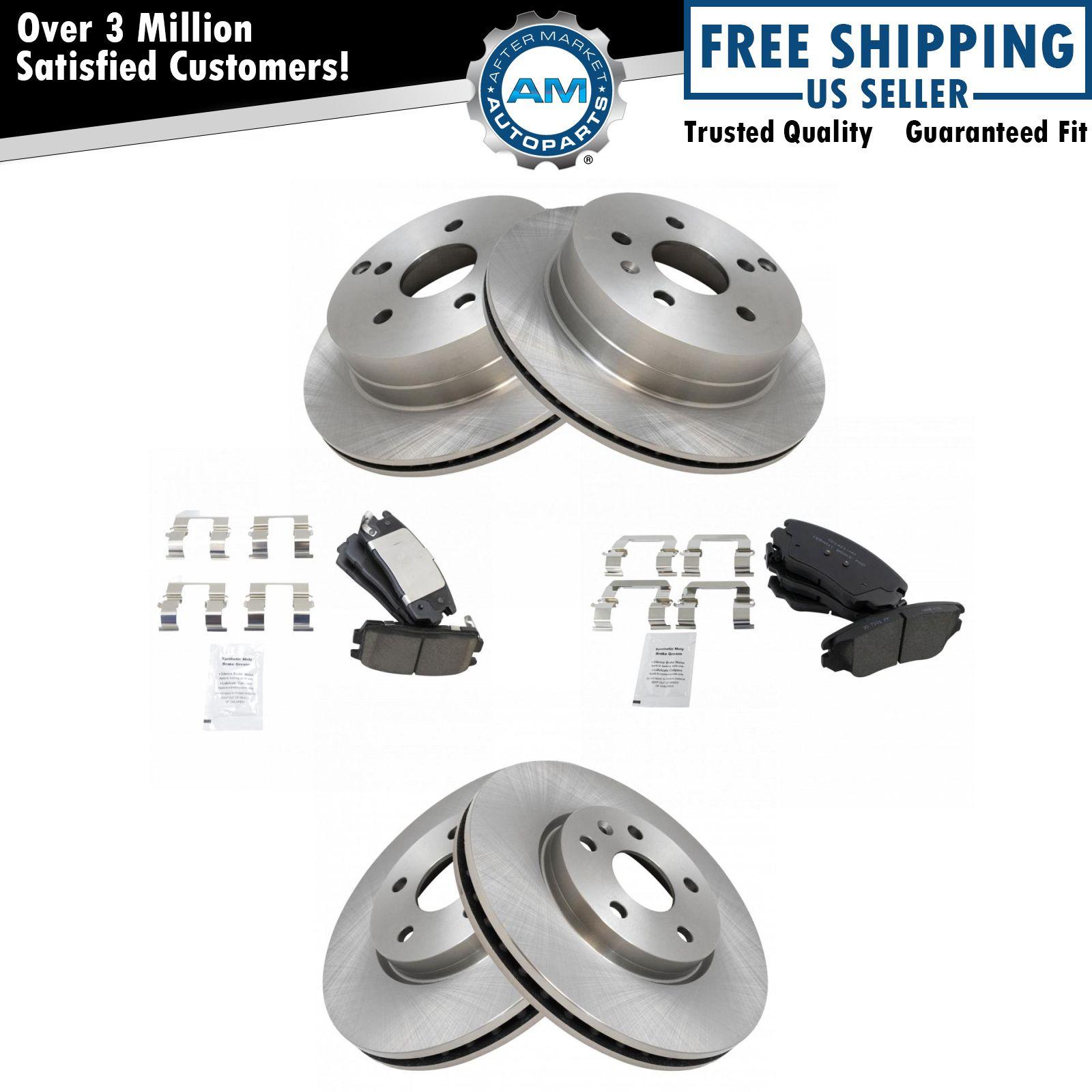 Brake Rotor Material : Nakamoto front rear ceramic brake pad rotor set for