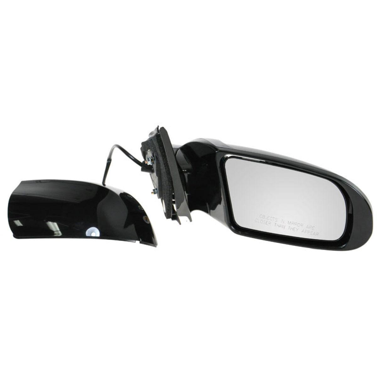 Side View Mirror Power Gloss Black Passenger Right Rh For