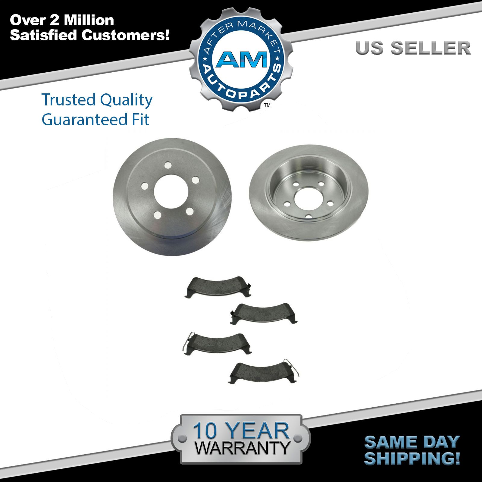 JEEP CHEROKEE ORVIS 1995-98 FRONT REAR BRAKE DISC PAD