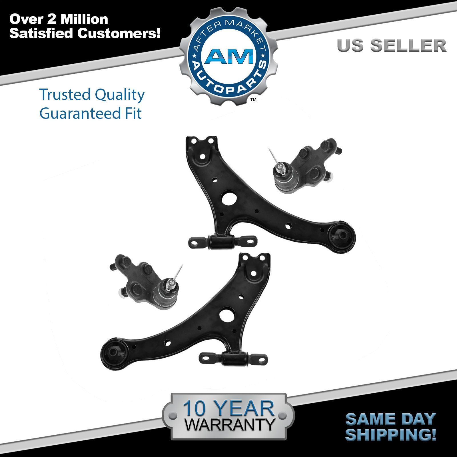 Control Arms w Ball Joints Front Lower Left & Right Pair Set for Camry Solara