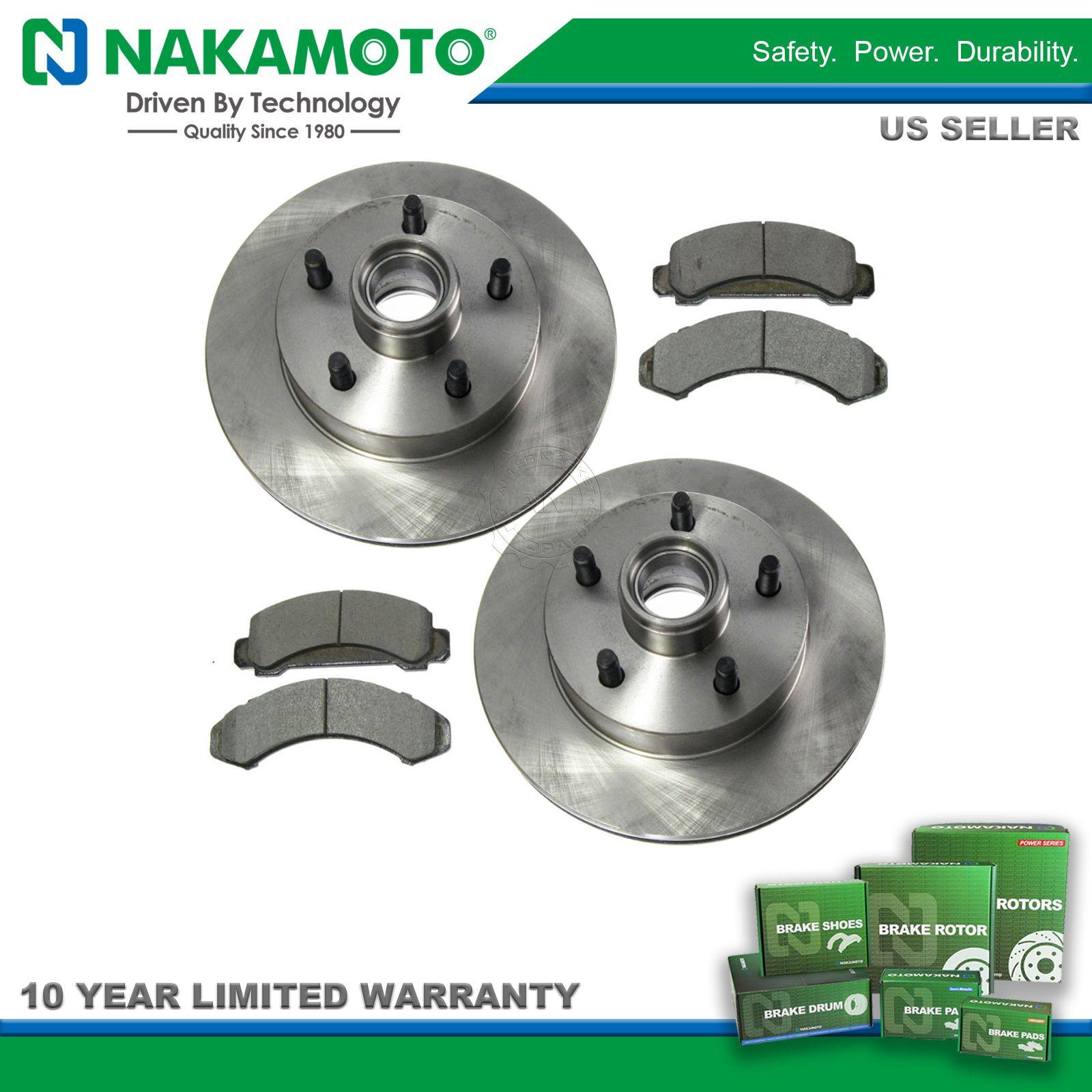 Nakamoto Front Ceramic Brake Pad & Rotor Kit Set for Ford Mazda Pickup Truck Van