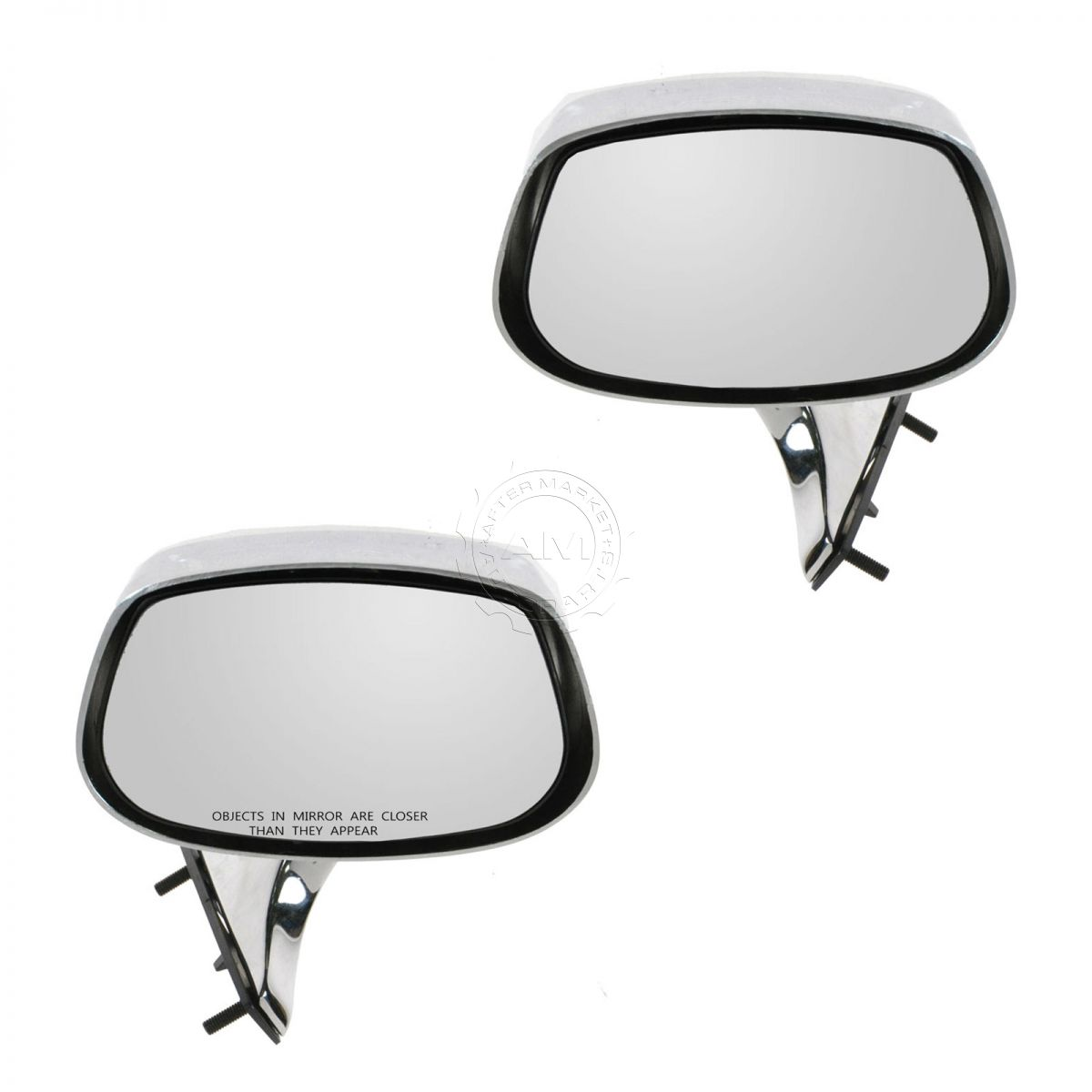 Manual Chrome Mirror Pair Set of 2 for Parisienne Electra LeSabre Impala 88  98