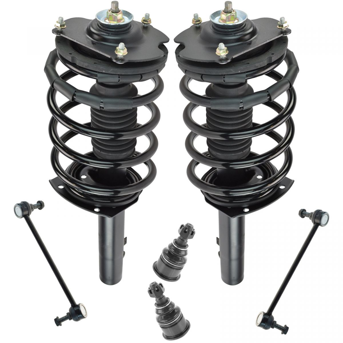 2 Outer Tie Rods 2 Inner 2 Lower Ball Joint 8 pc Set: 2 Front Ready Strut