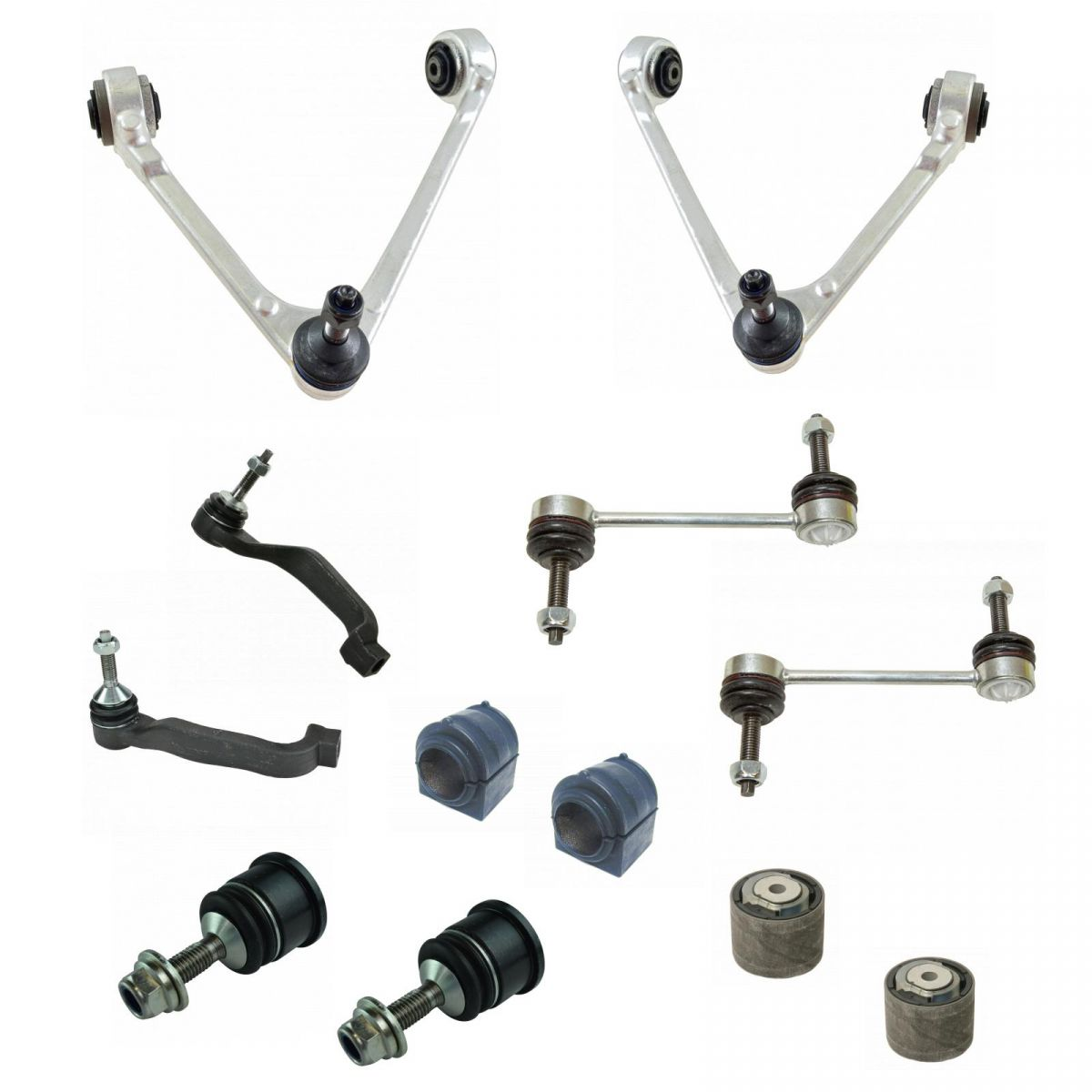 8 Aftermarket Front kit 4 Upper Low Ball joint 4 Inner Out tie rod Astro Safari