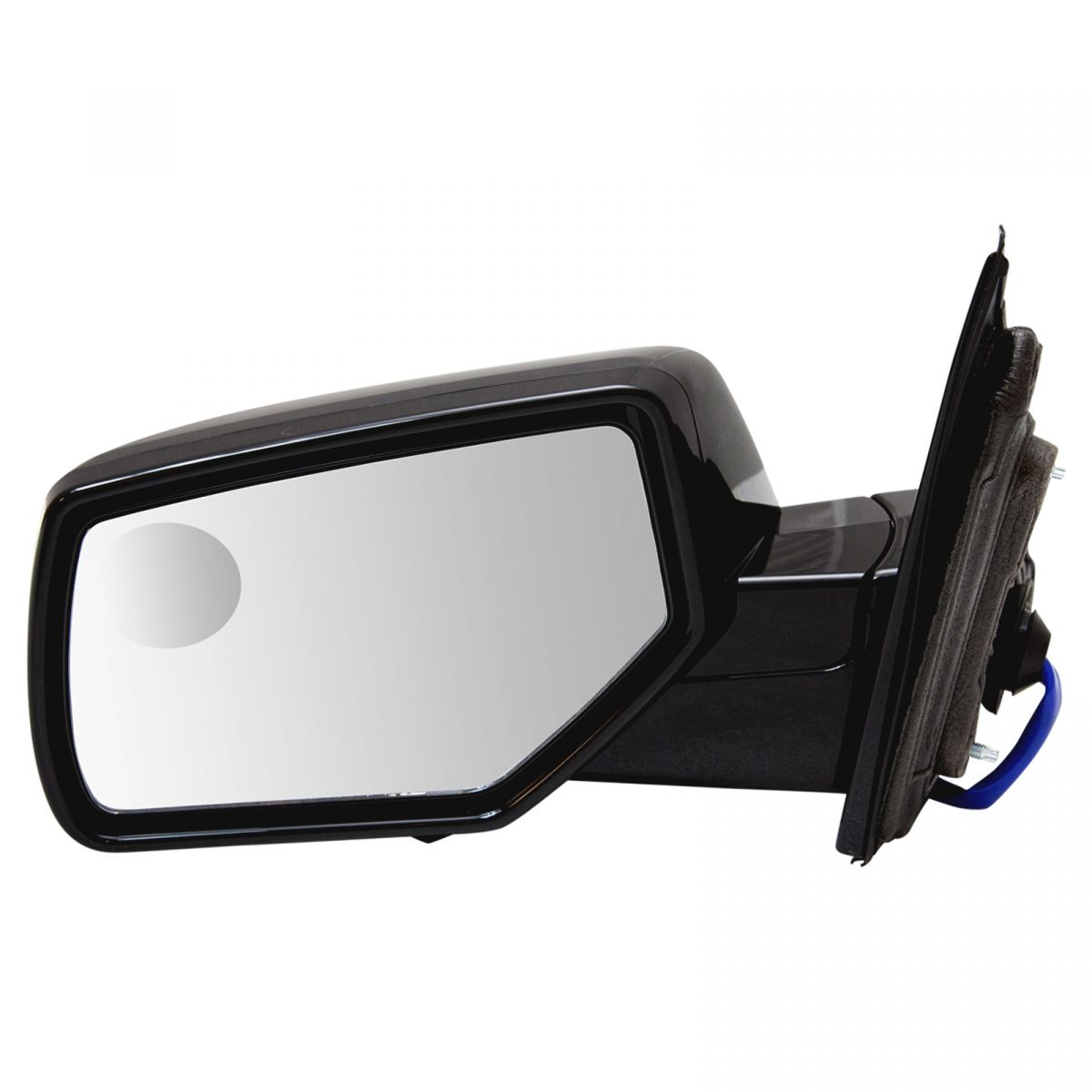 GM Right Pass Power Mirror Heat Black Chrome Cover Manual Fold Fits Tahoe