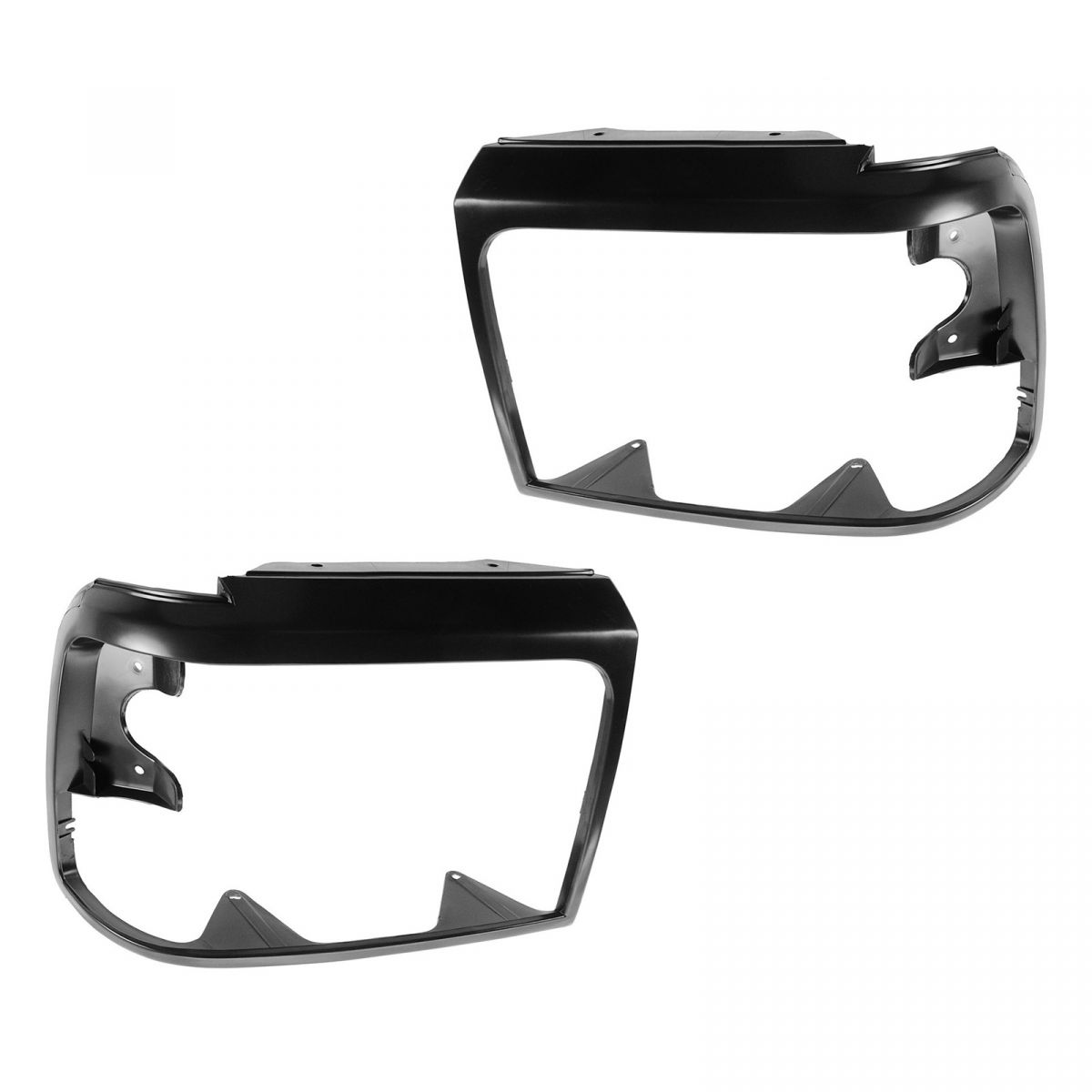 Headlight Trim Bezels Black LH & RH Pair Set For Ford