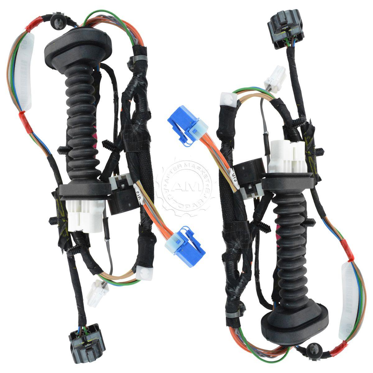 oem 56051694aa rear door electrical wiring harness lh & lh pair for ram  pickup