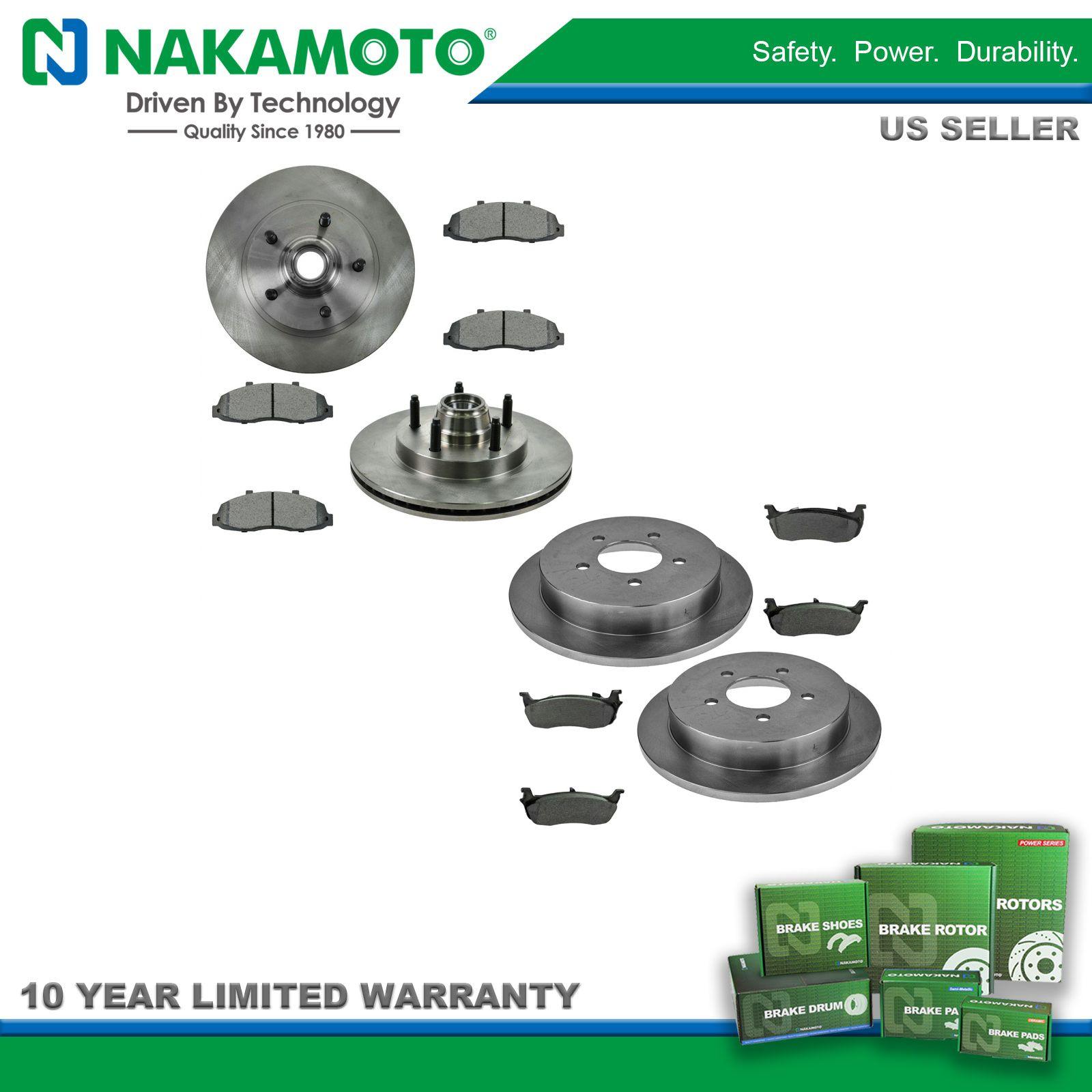 Nakamoto Front /& Rear Premium Posi Metallic Disc Brake Pad Kit for GM Truck New