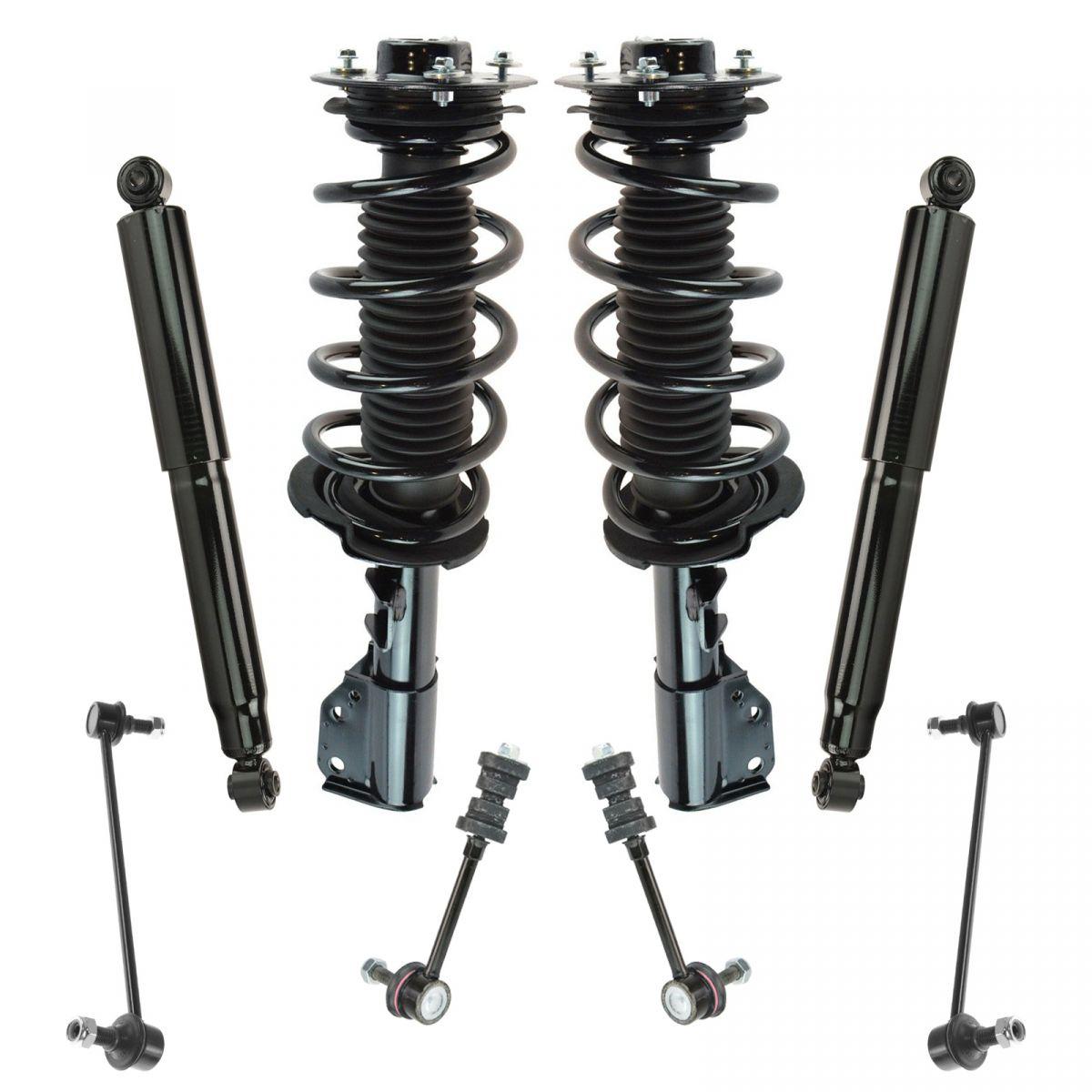 4 Piece Front Strut /& Spring Assemblies Sway Bar Links Kit for Honda Accord