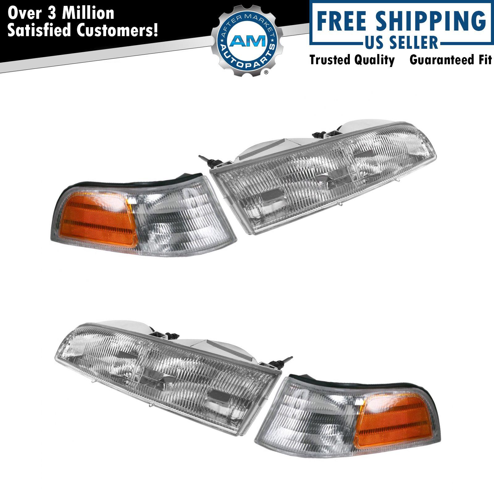 Headlight Headlamp Corner Light Lamp Kit Set of 4 for 94-95 Ford Thunderbird NEW