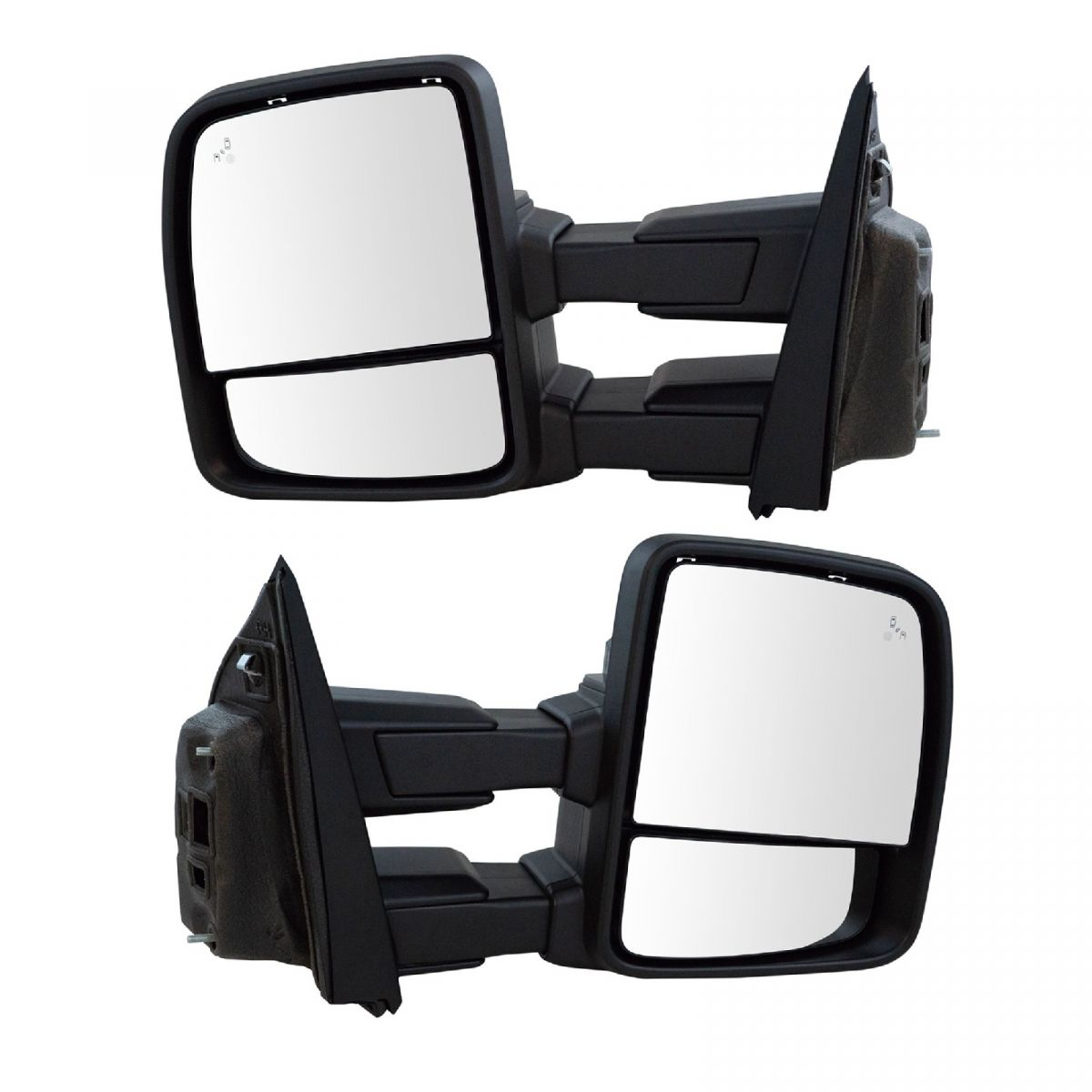 Passenger Side Power Heated Signal Puddle Light Tow Mirror Black 04-14 Ford F150