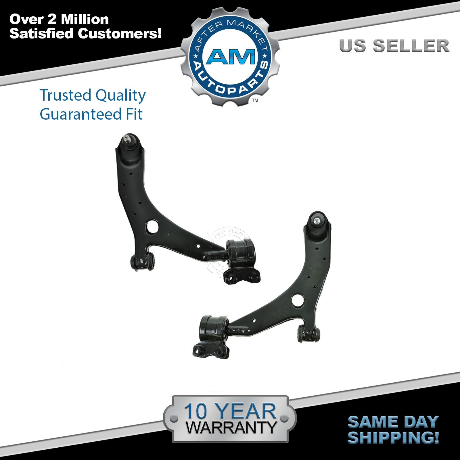 Front Lower Control Arm & Ball Joint Balljoint Pair Set of 2 for Mazda 3 5