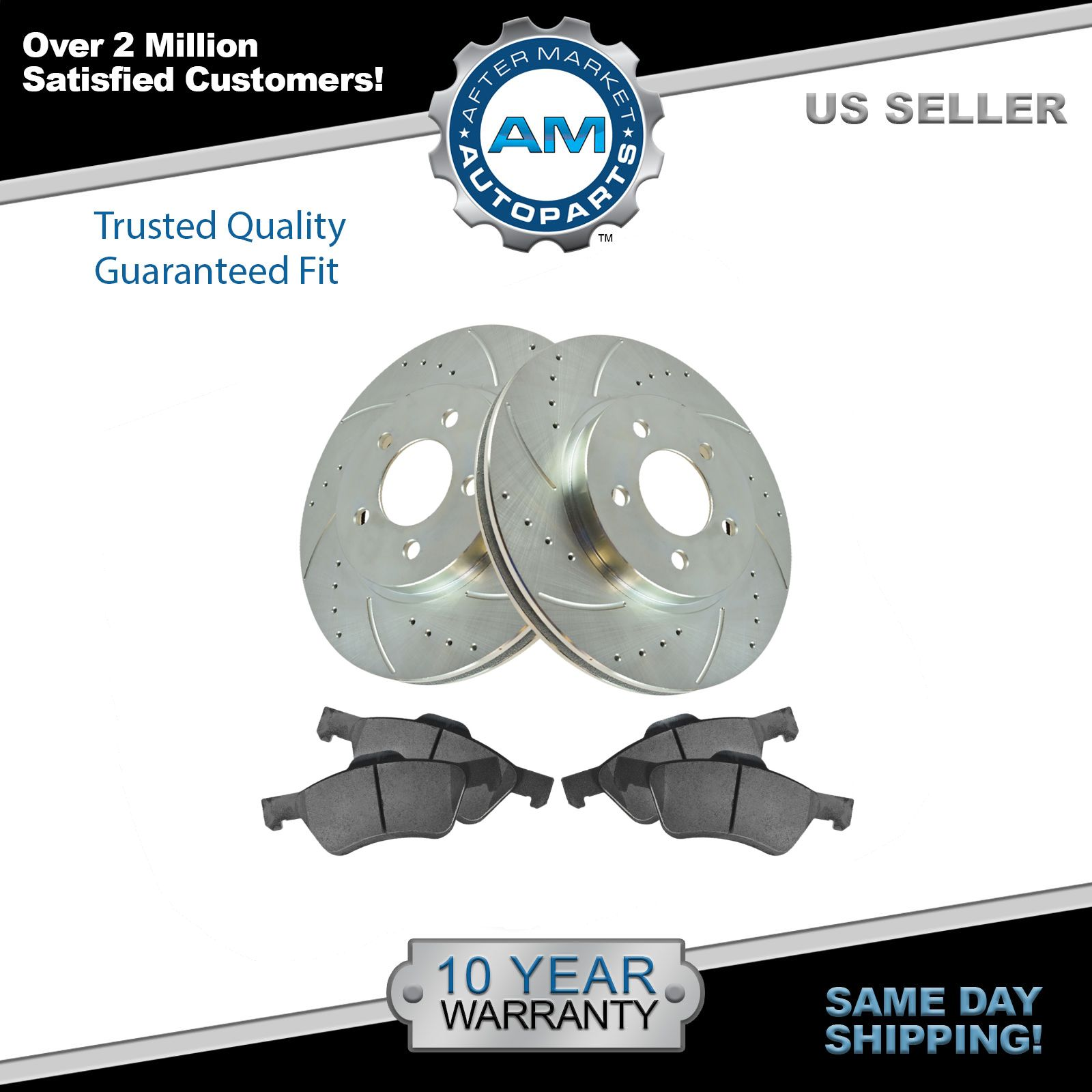 Nakamoto Front Disc Brake Rotors Pair Set of 2 NEW For Escape Mariner Tribute