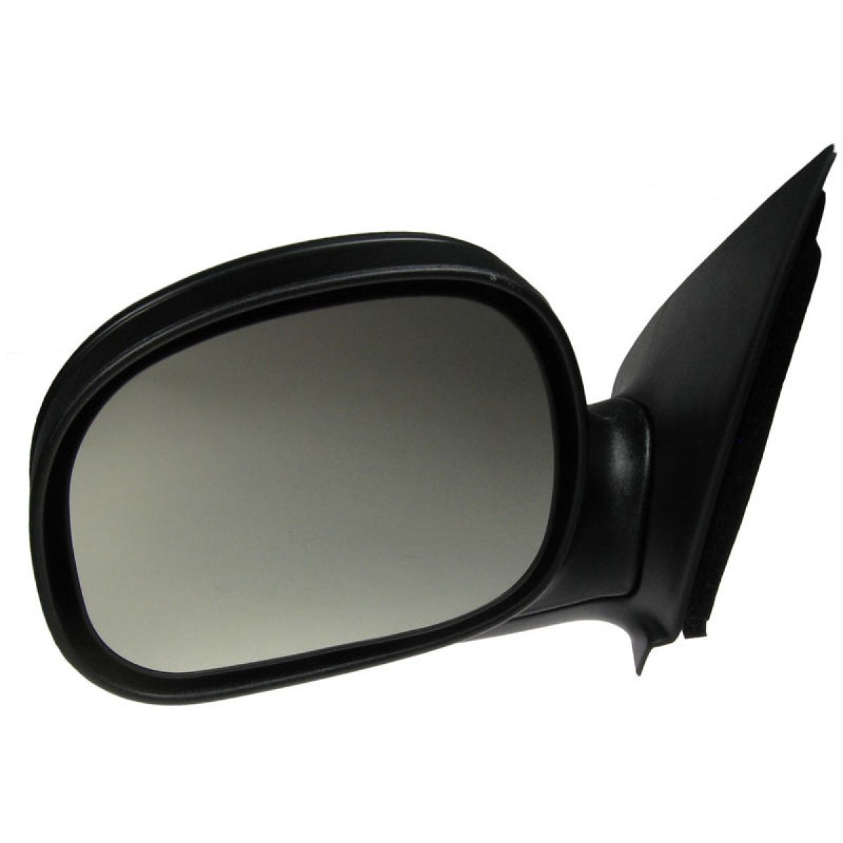 Black Folding Manual Side View Mirror Driver Left LH For