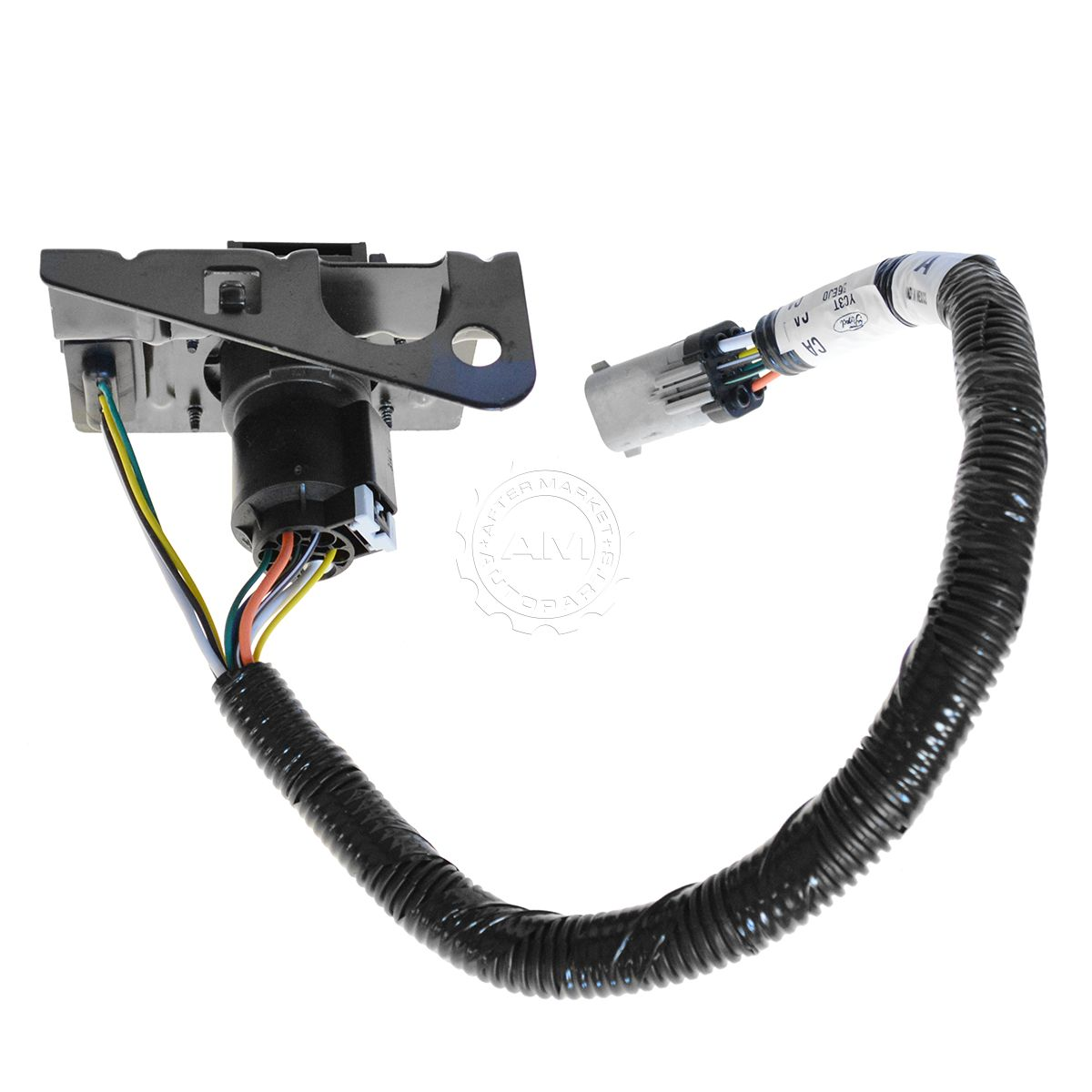 ford 4 7 pin trailer tow wiring harness w plug bracket for f250 rh ebay com ford 7 pin trailer wiring color code ford f150 7 pin trailer wiring