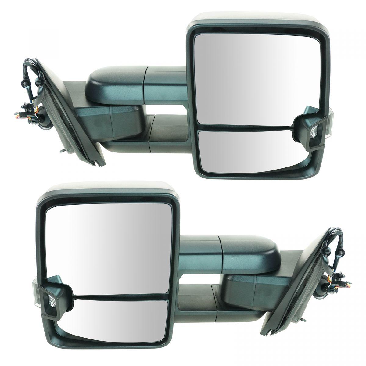 Mirror Manual LED Signal Marker Spotlight Textured Black Pair for GM Pickup New
