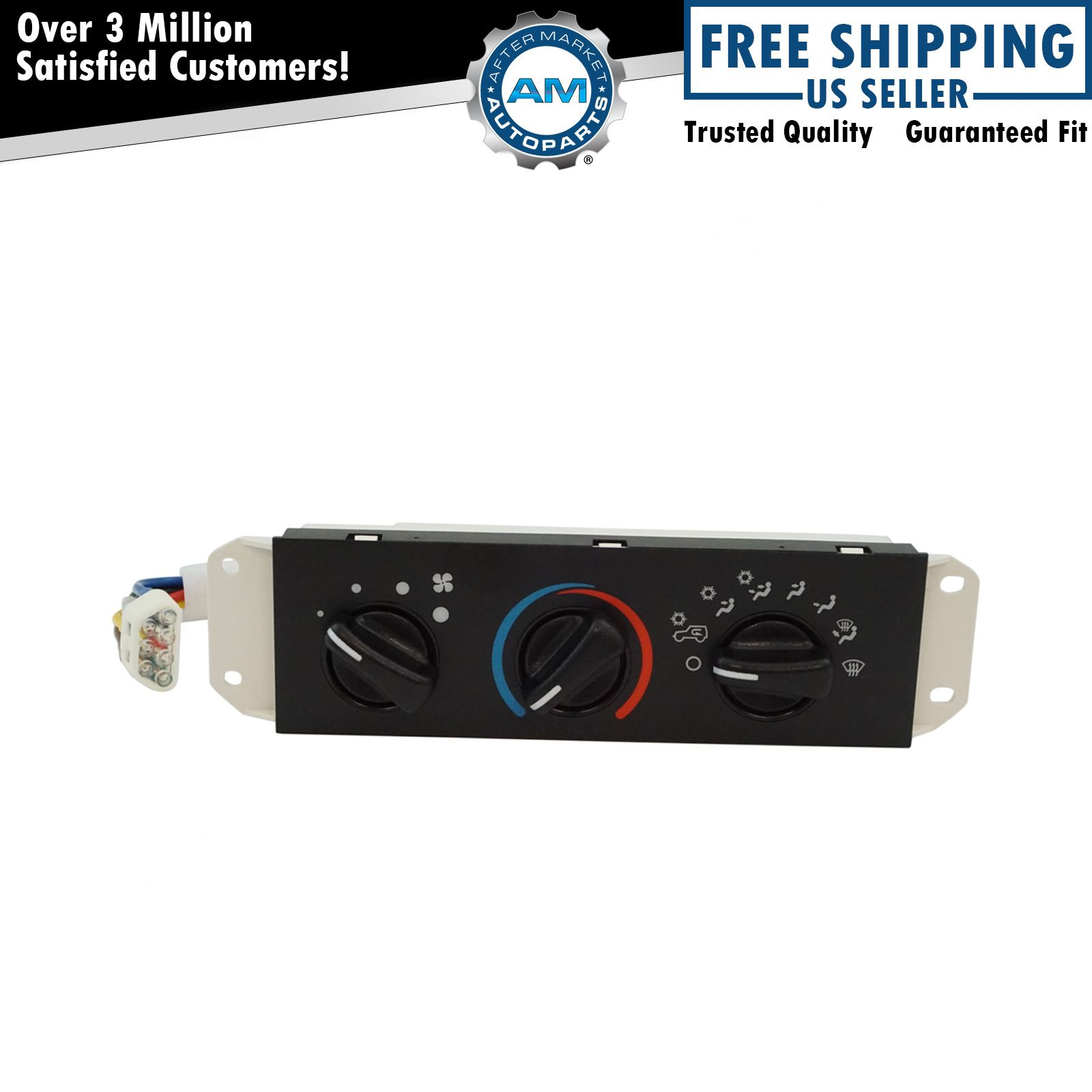 HVAC AC A/C & Heater Control With Blower Motor Switch For