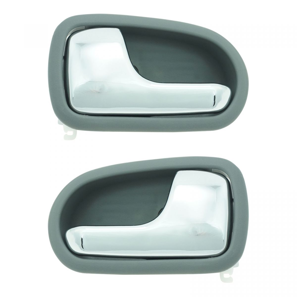 Inner Interior Inside Chrome & Gray Door Handle Pair Set for 95-03 Mazda Protege