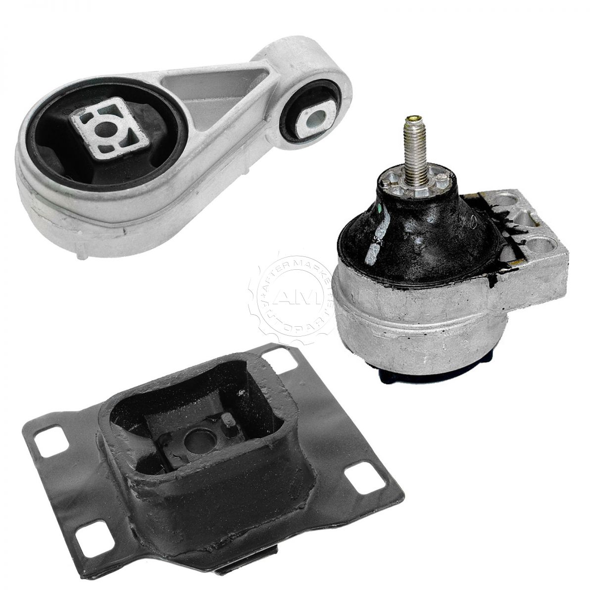 Motor Mounts Kit Compatible with 08-11 Ford Focus 2.0L Auto Automatic and Manual Trans Transmission AT MT 3pcs Set 2008 2009 2010 2011 Engine Mounts