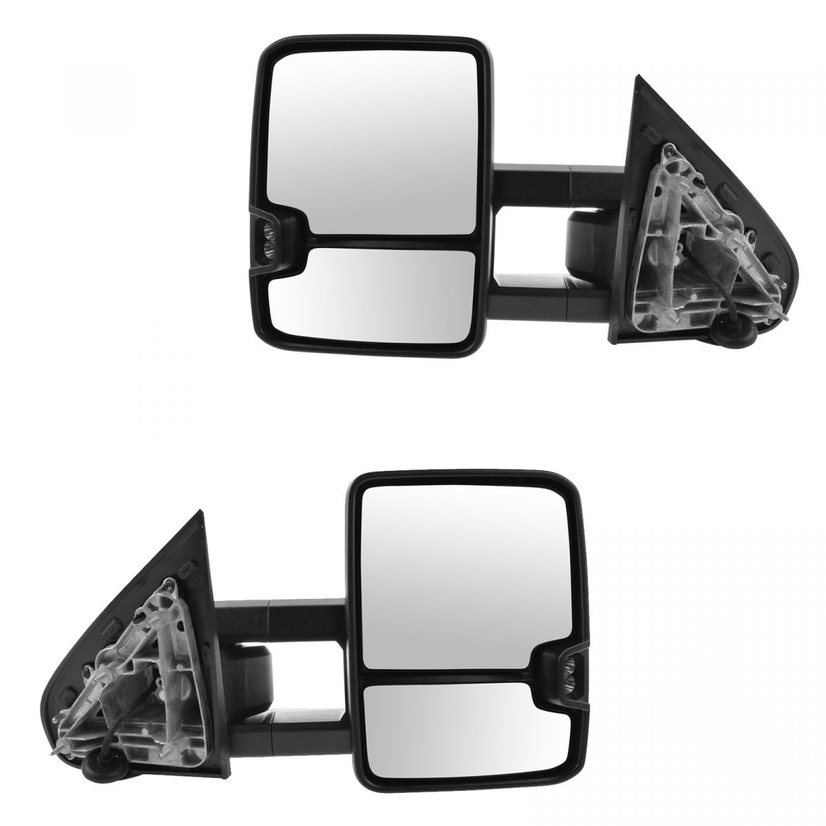 Black Fold Power Side View Mirrors Pair Set for 88-00 Chevy GMC Truck New RH+LH