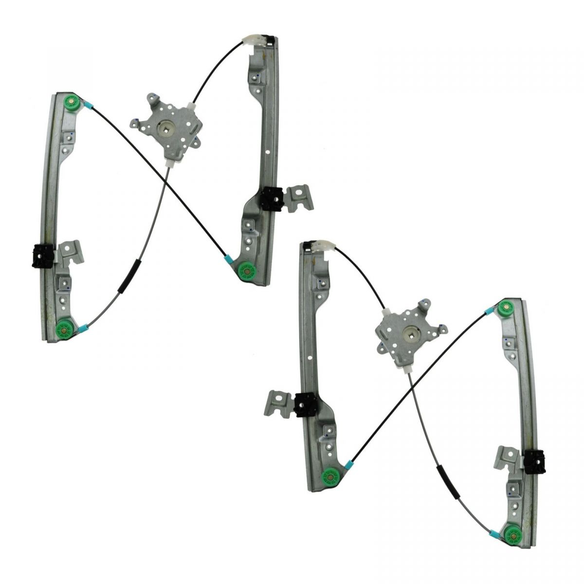 front power window regulator pair set for 02