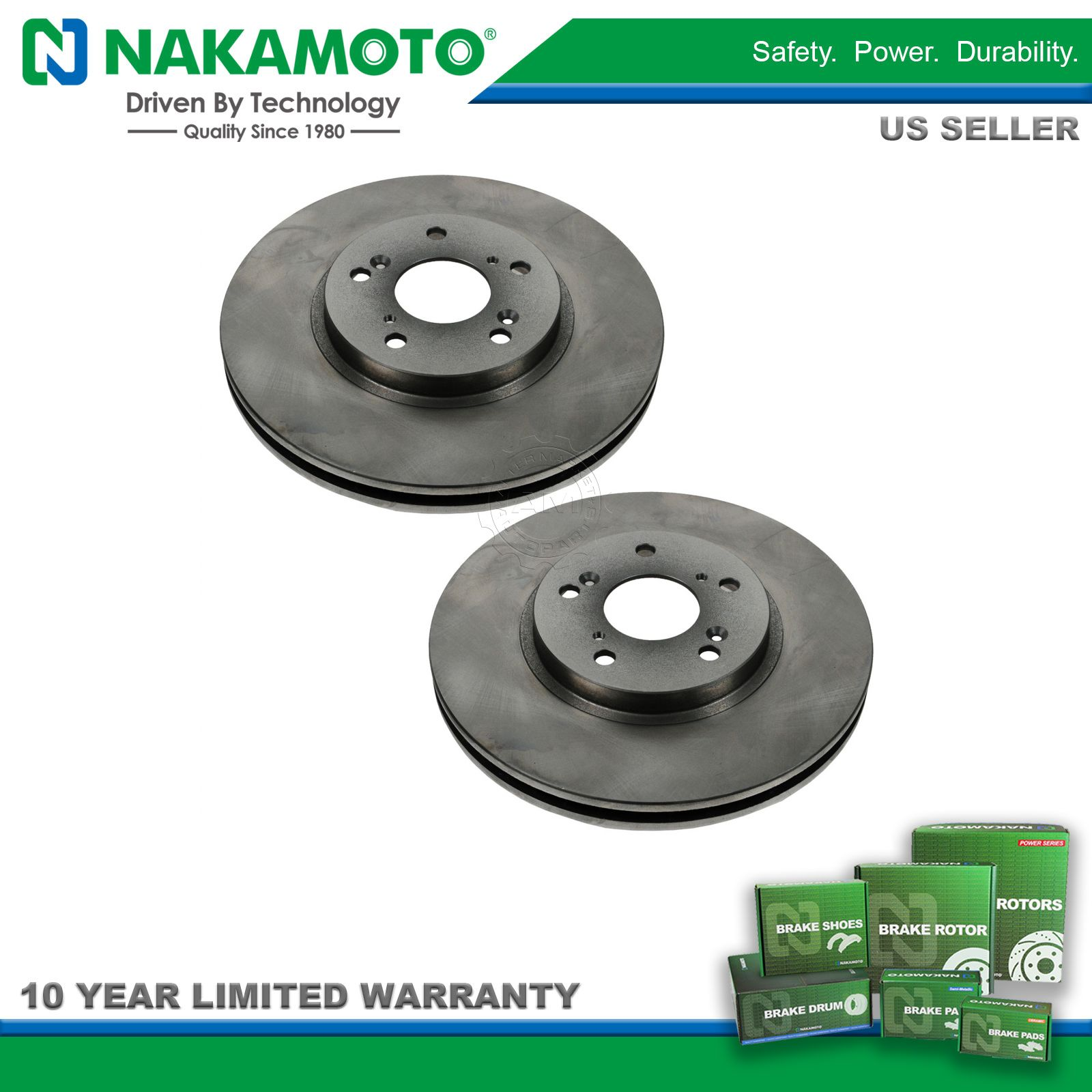 Nakamoto Front Brake Rotor Pair Set for Acura 3.2 TL CL MDX Accord Coupe  Pilot