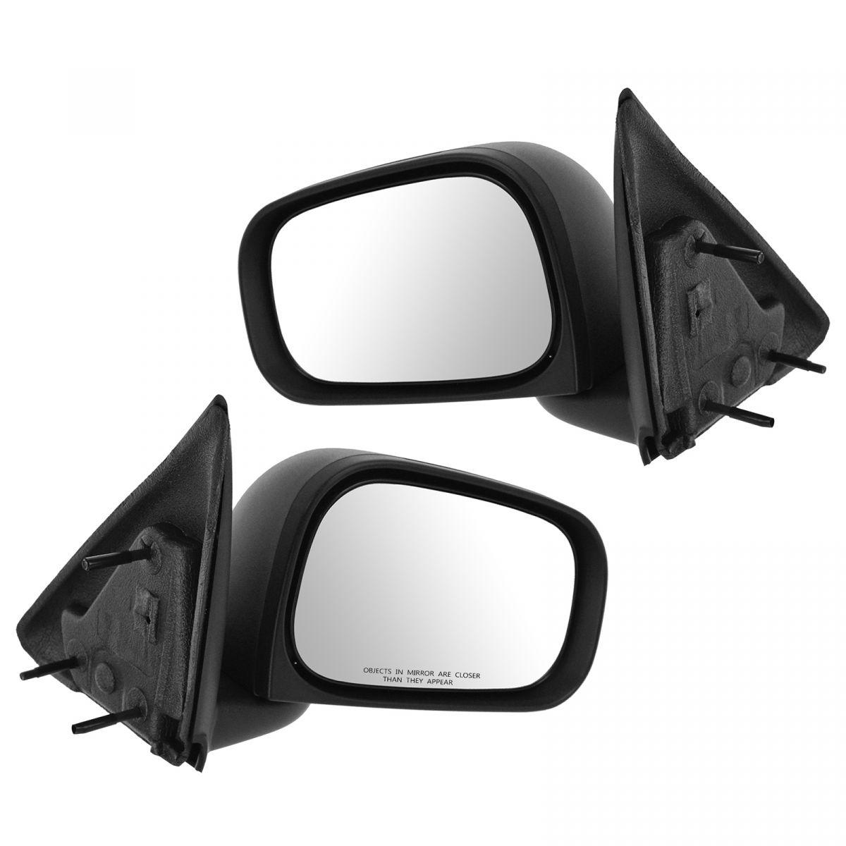 Mirror Manual Textured Black Folding RH LH Right Left PAIR Set for Dakota Raider