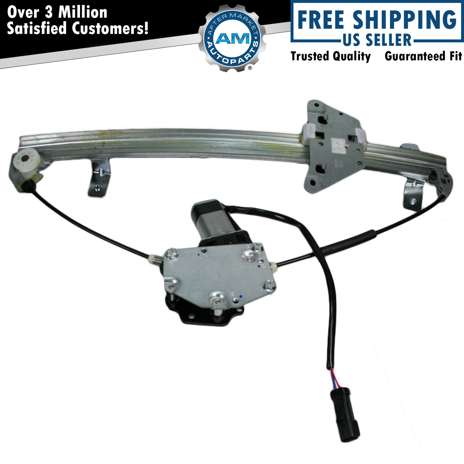 rear power window regulator w motor driver side lh for