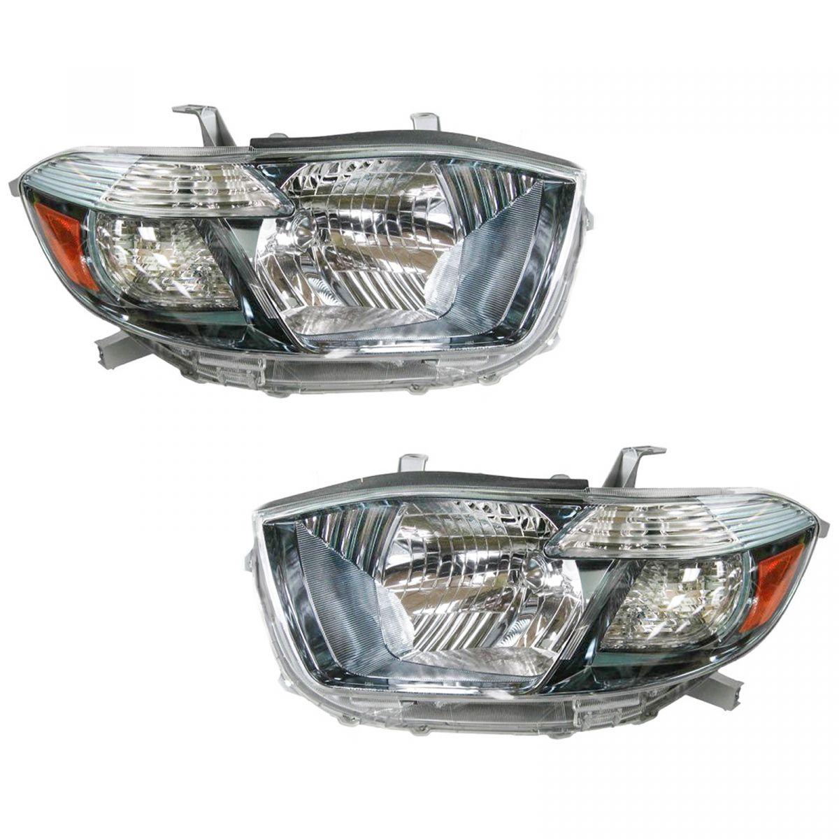 08-10 Toyota Highlander Sport Driver /& Passenger Tail Lights Pair Set