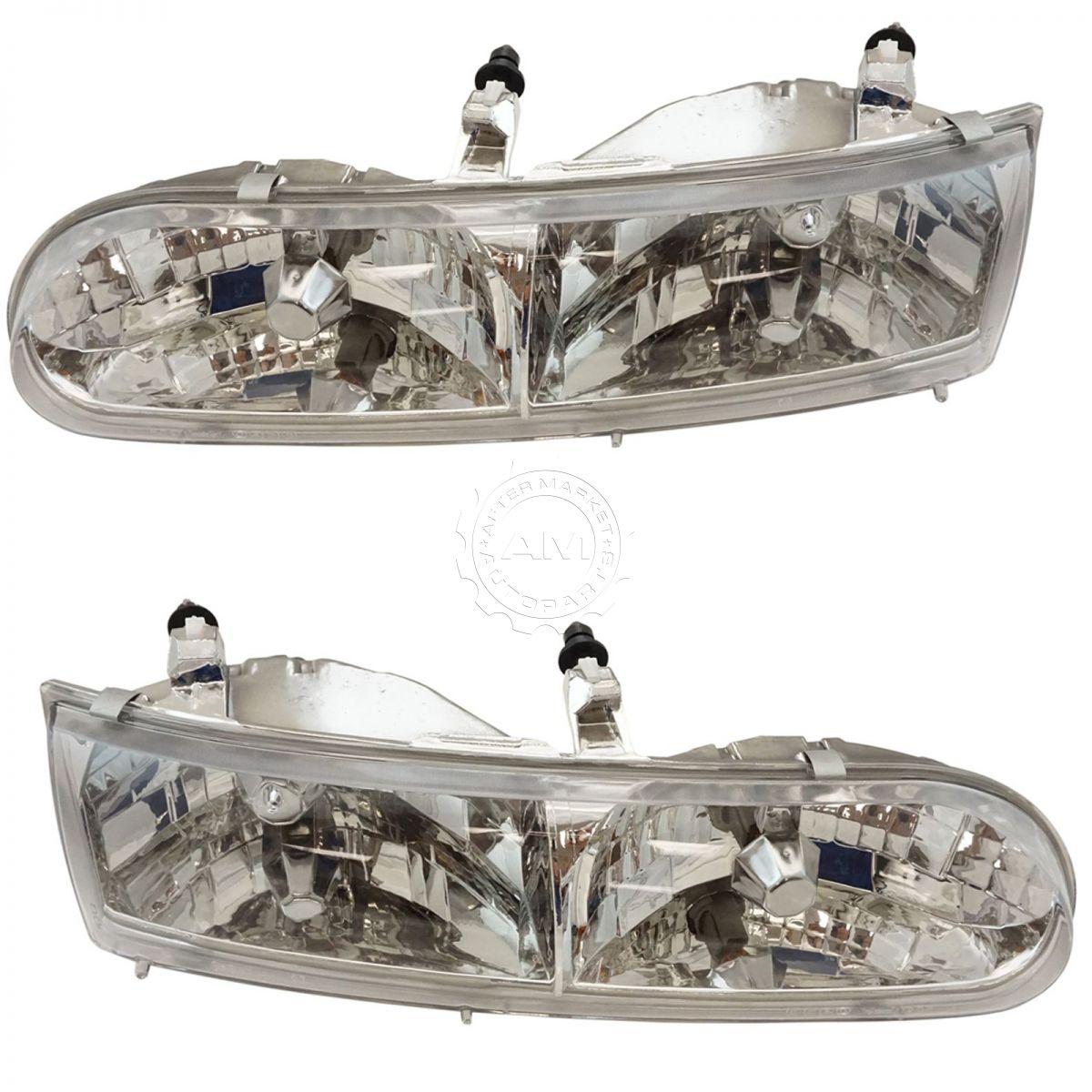 headlight head lamp pair for ford taurus 94 95 ebay. Black Bedroom Furniture Sets. Home Design Ideas