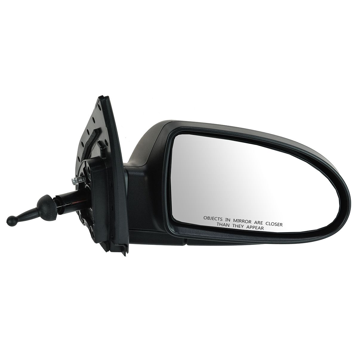 HY1321157 New Mirror Passenger Right Side Textured Black Sedan 2007 For Accent