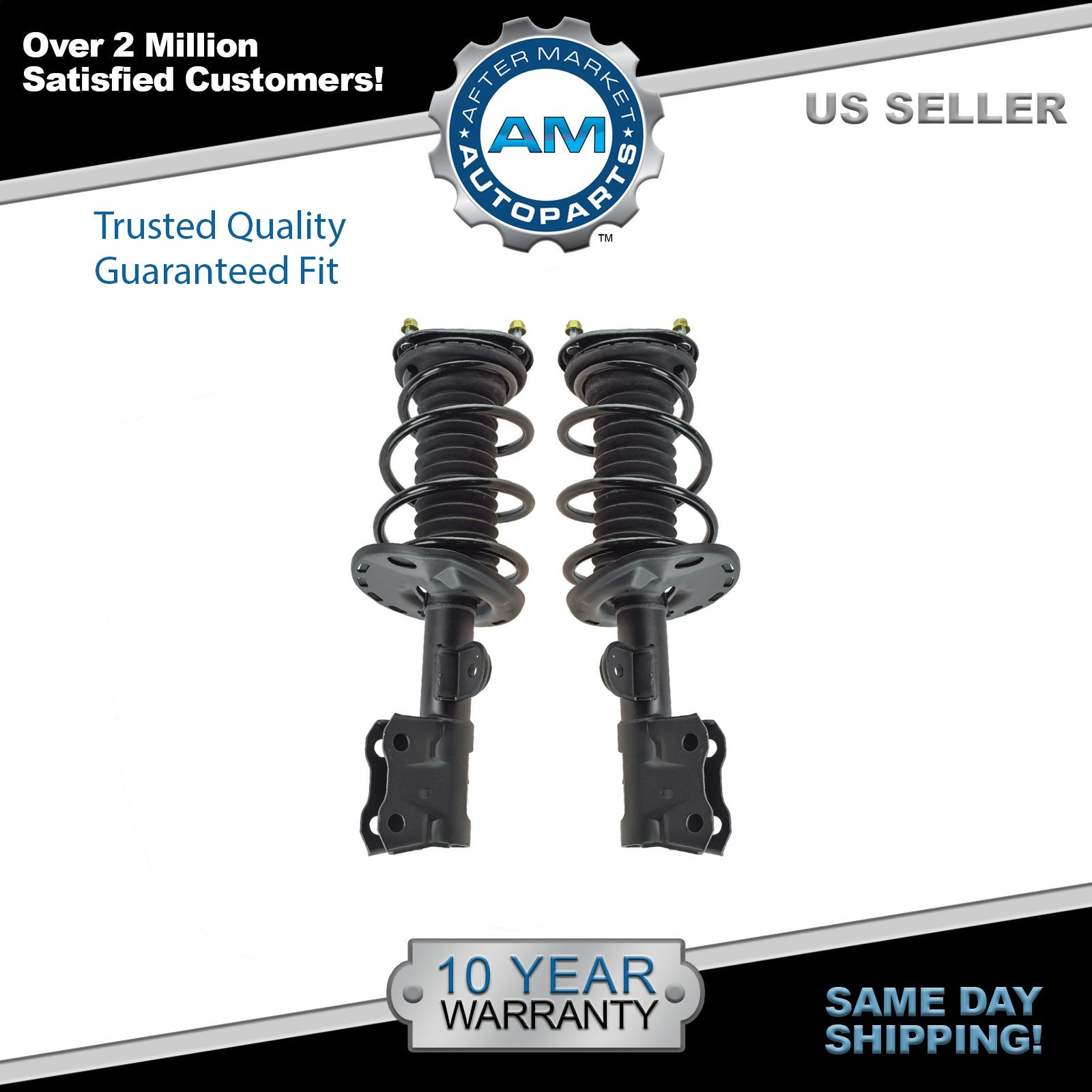 Details about Complete Loaded Strut Spring Assembly Front Pair 2pc Set for  10-13 Prius New