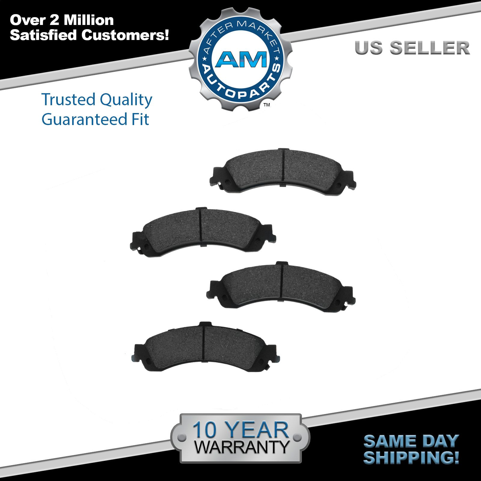 Front Premium Posi Ceramic Disc Brake Pads for Cadillac Jeep Dodge Chevy New