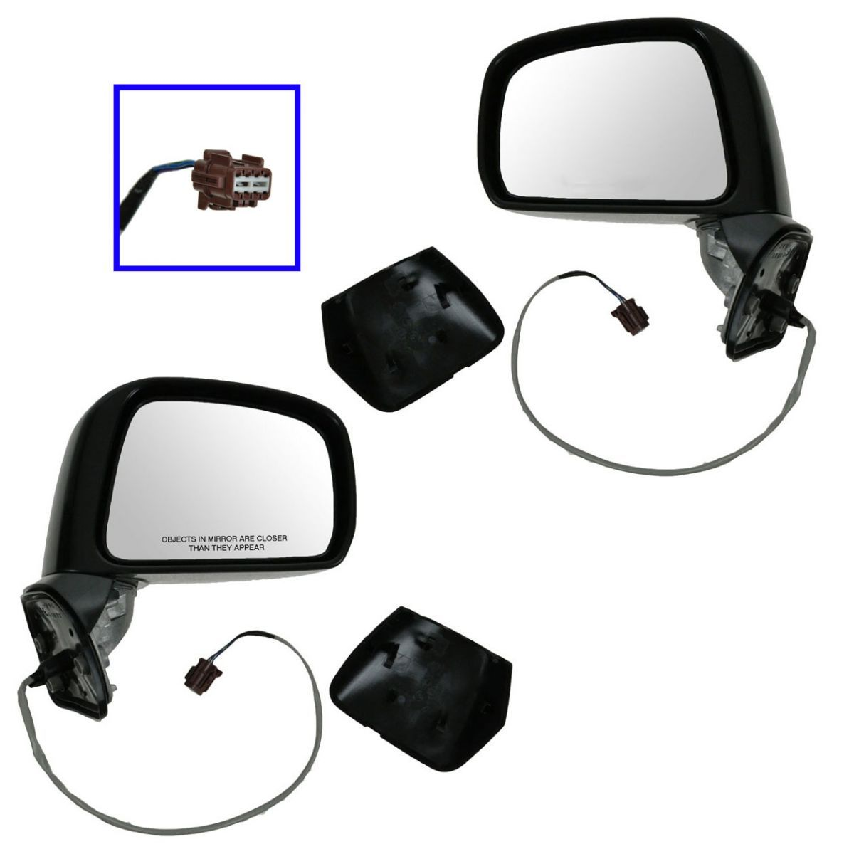 Mirror Side View Power Folding Driver Left Hand LH for 07-12 Nissan Versa