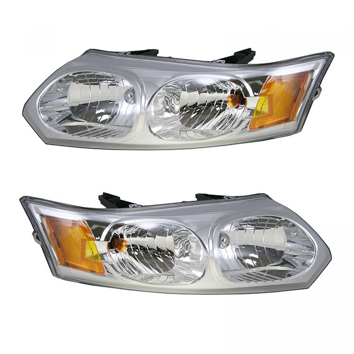 Headlights Headlamps Left  U0026 Right Pair Set New For 03