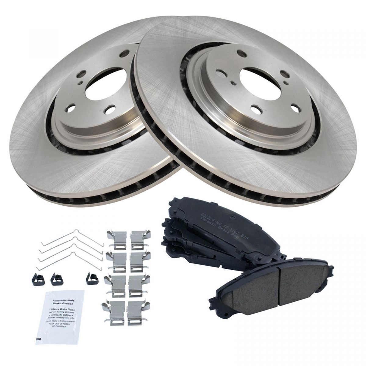 Nakamoto Front /& Rear Premium Posi Ceramic Disc Brake Pad Set for Toyota Sienna