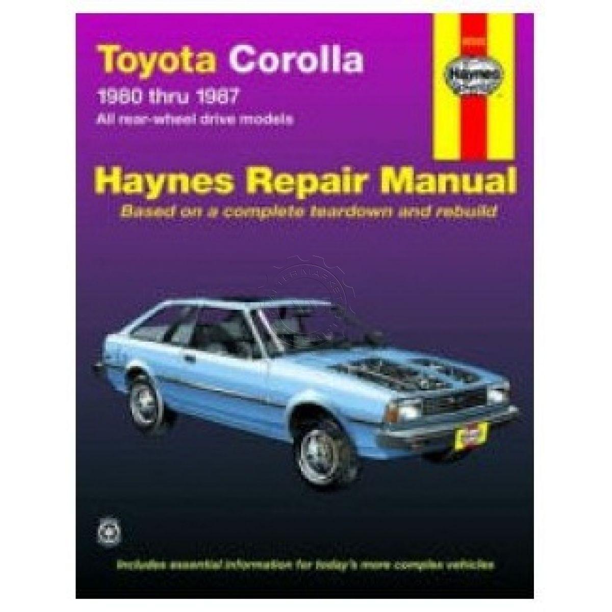 haynes repair manual for toyota corolla 80 83 84 85 86 87 ebay rh ebay com toyota corolla ae86 manual manual toyota corolla avila 86