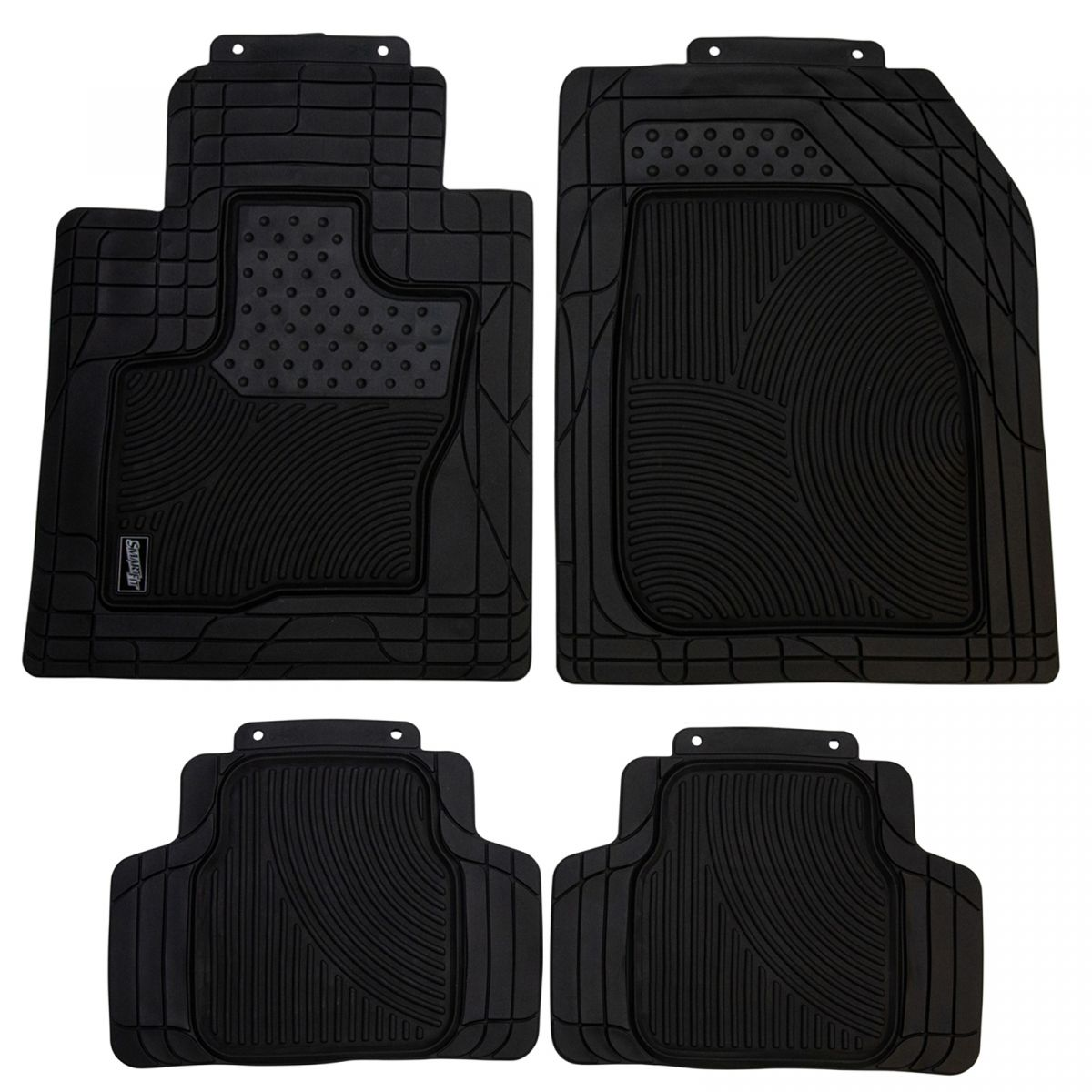 Armor All Custom Accessories Smart Fit Black Rubber Floor Mat Set Of 4 New Ebay
