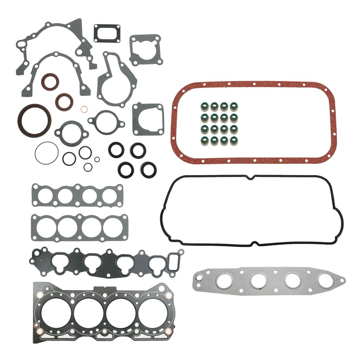 Complete Engine Head Intake Manifold Gasket Set For Chevy