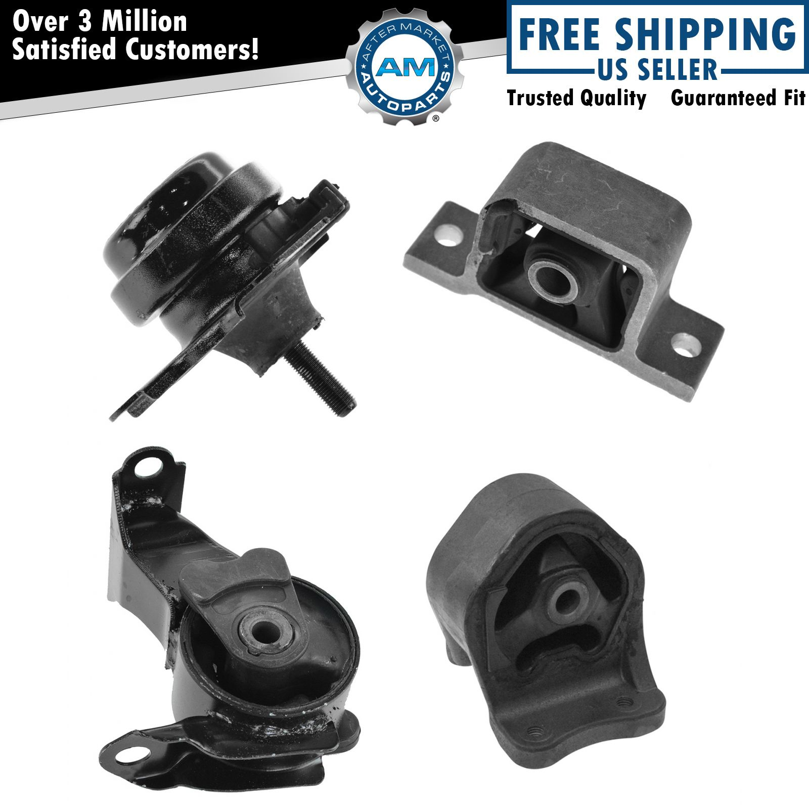 engine motor transmission mount kit set of 4 for honda cr