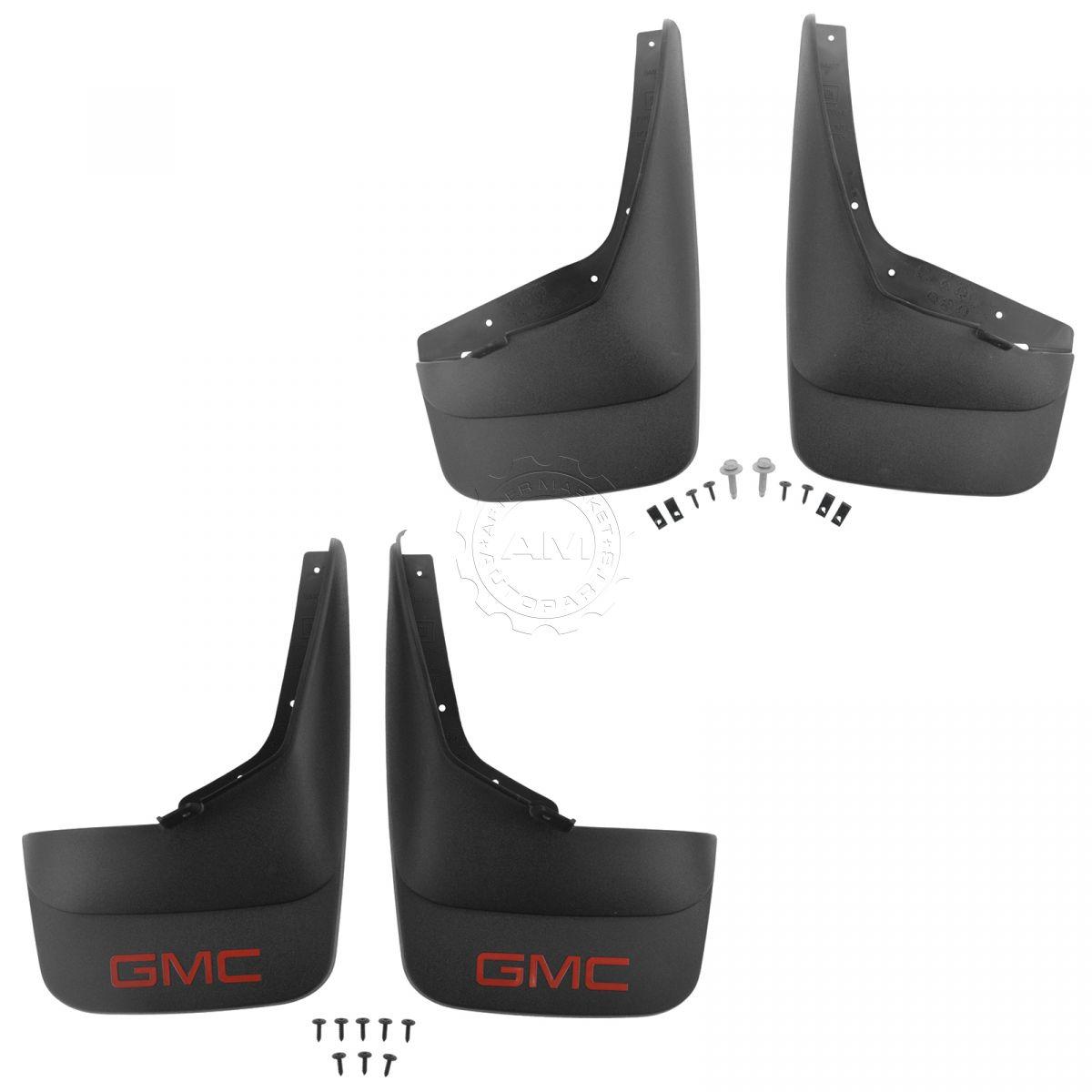 OEM Splash Guard Mud Flap Front Rear Set of 4 Molded Black for GMC Pickup Truck