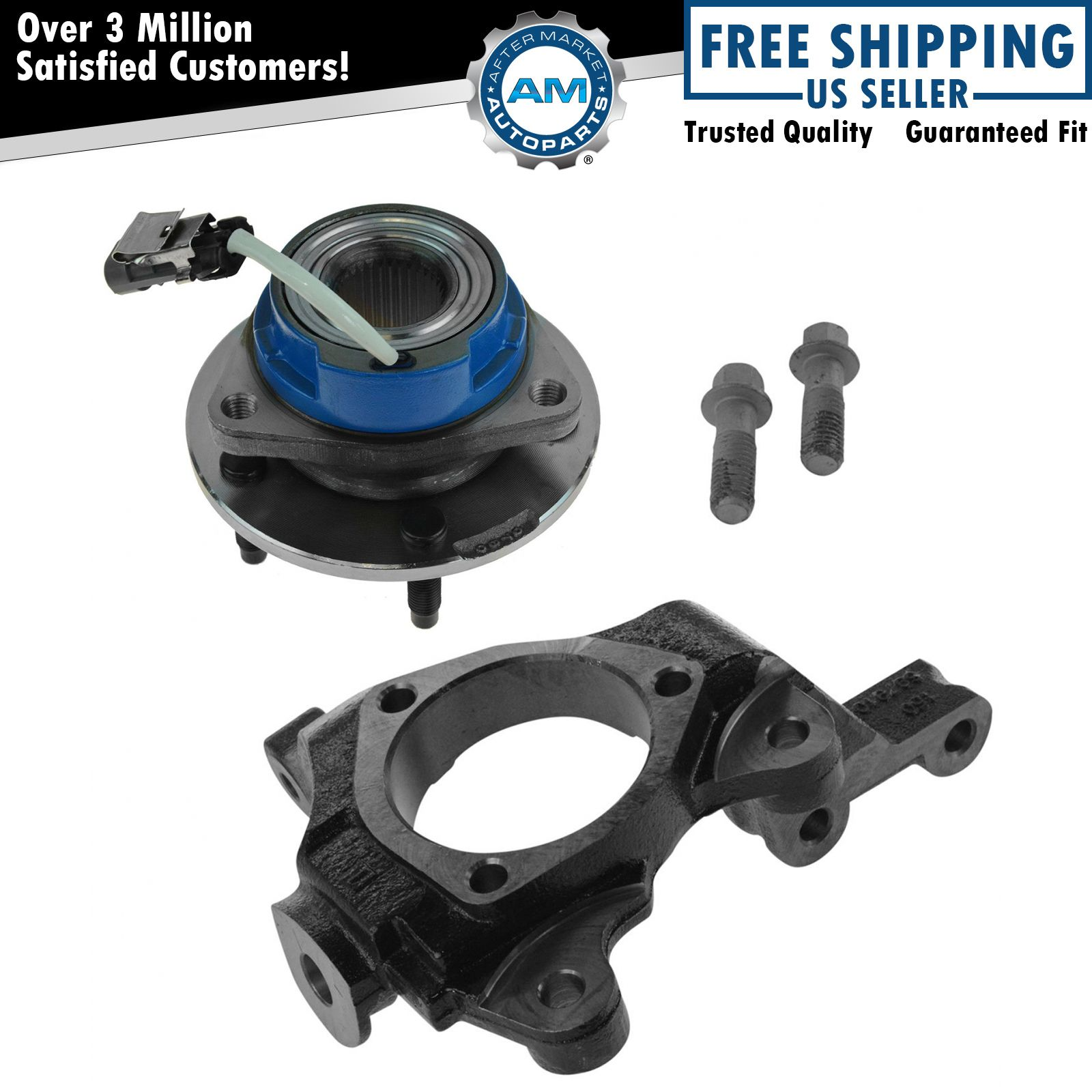 AutoShack KN798036 Front Passenger Side Steering Knuckle without bearing