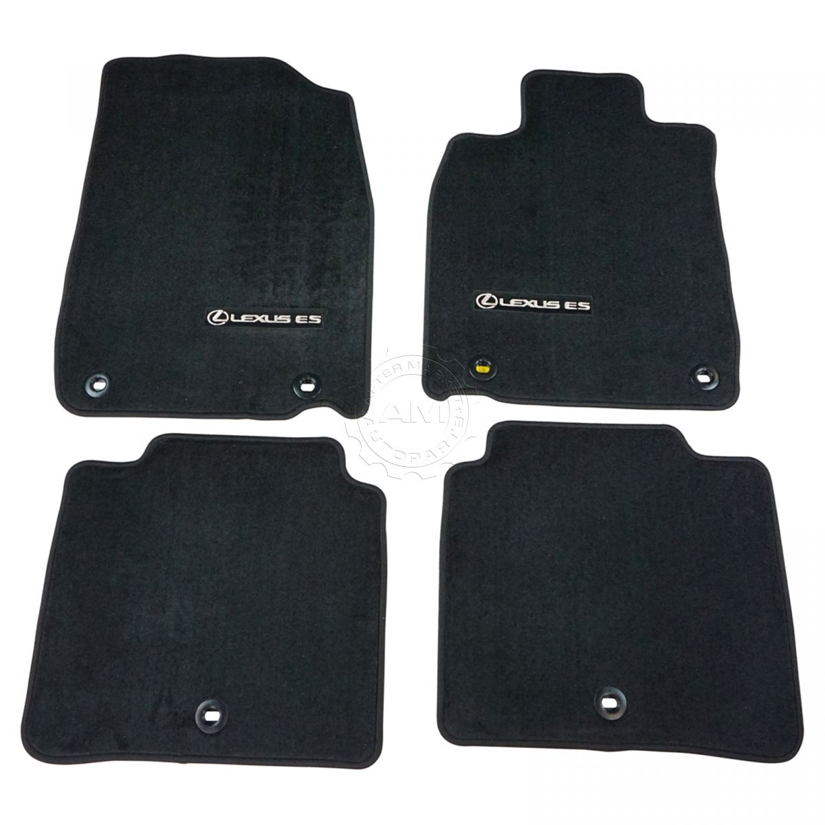 Black with Black Trim Connected Essentials CEM500 Car Mat Set for Forester Deluxe 2010
