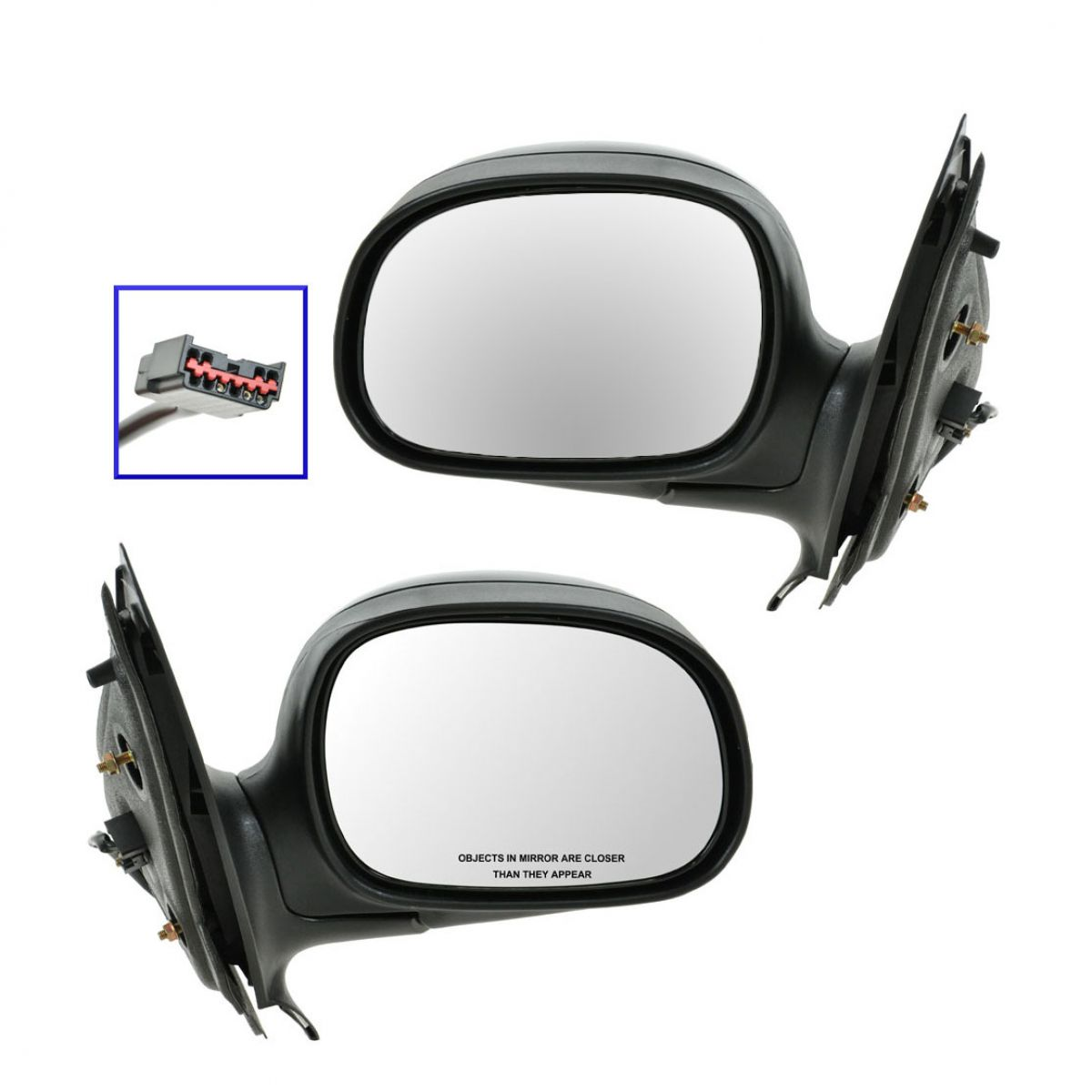 Black /& Chrome Heated Folding Power Mirror Right RH for 97-02 Ford Expedition