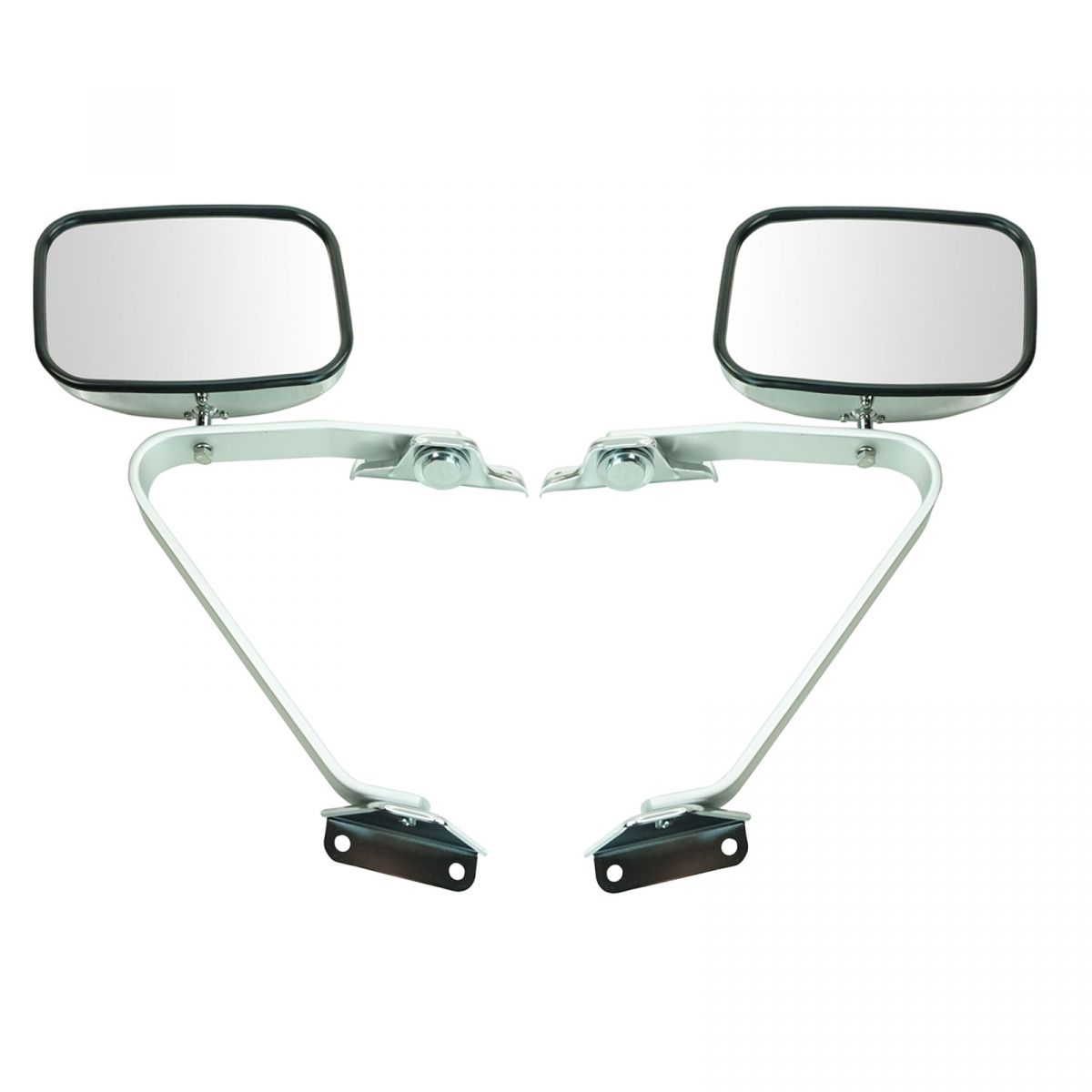 Side View Manual Mirrors Chrome Pair Set For Ford F Series