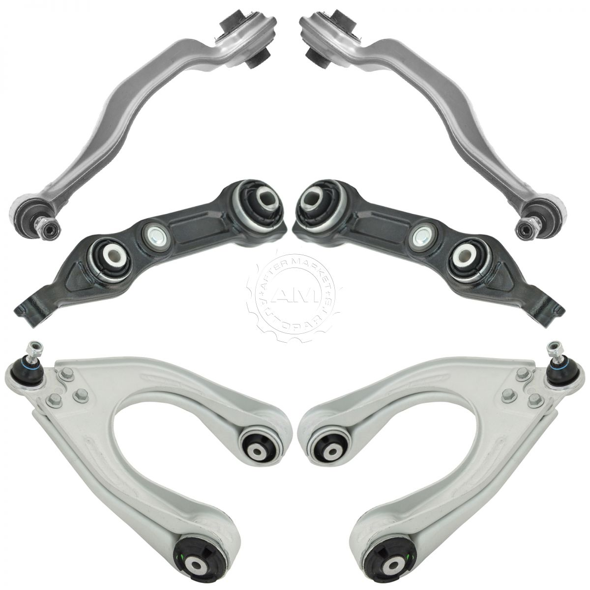 Front Upper Lower Control Arm Kit Set Of 6 For Mercedes Benz Cls E Series