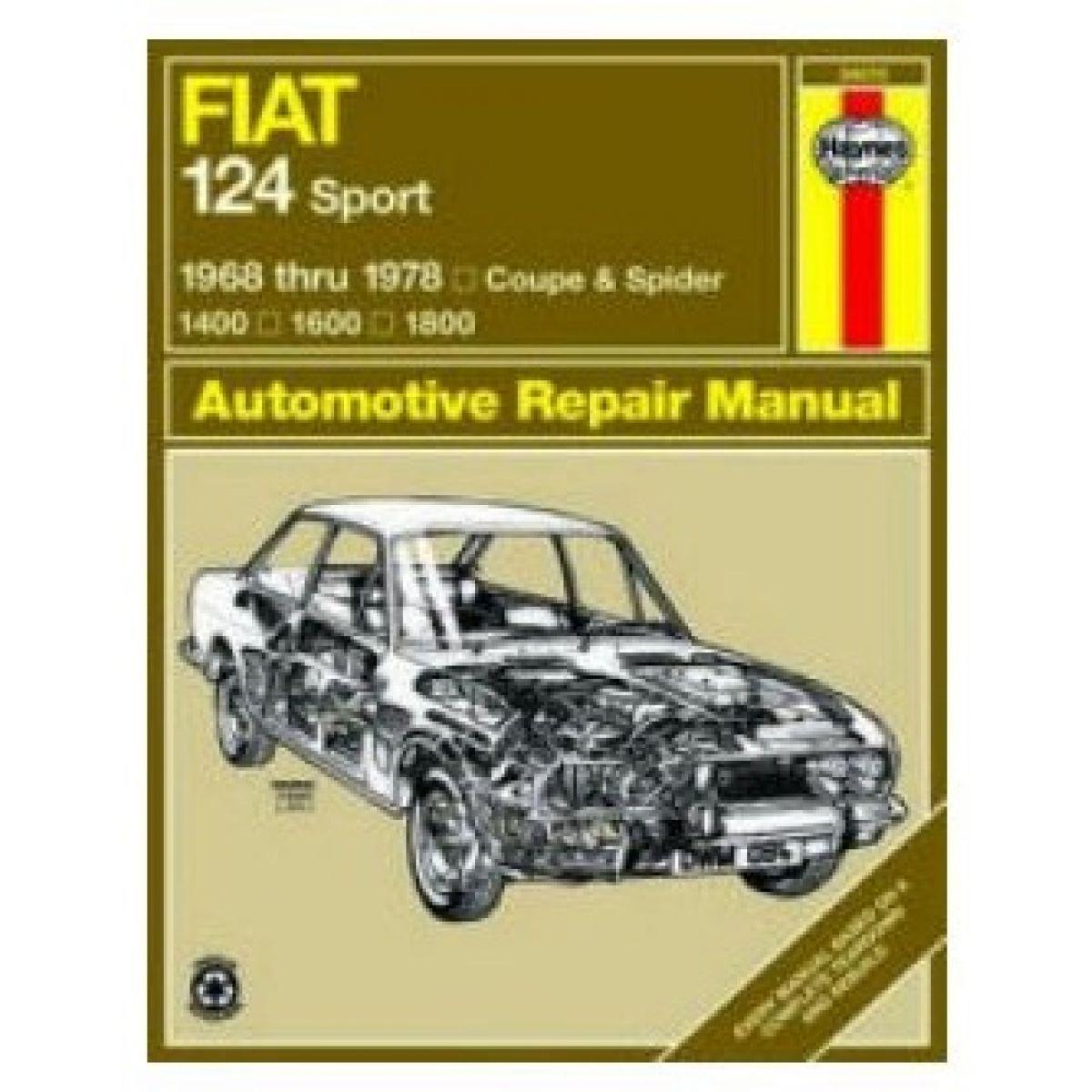 haynes repair manual for 68 74 75 76 77 78 fiat 124 sport ebay rh ebay com 1995 Toyota Corolla Repair Manual 1995 Toyota Corolla Repair Manual
