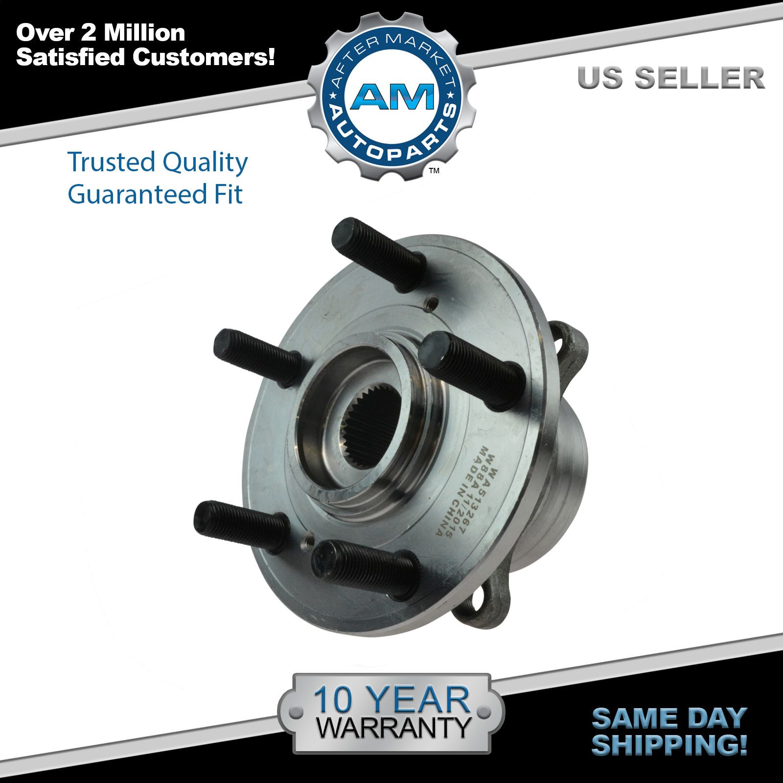 Front Wheel Hub & Bearing Driver Or Passenger Side For