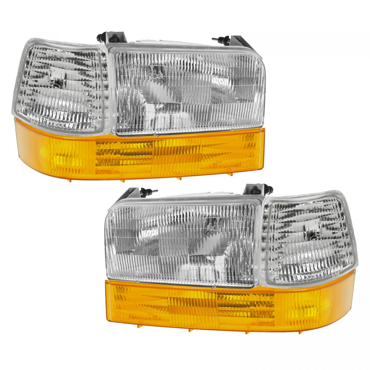 Headlights & Parking Corner Lights Left & Right Pair Set for Ford Truck Bronco